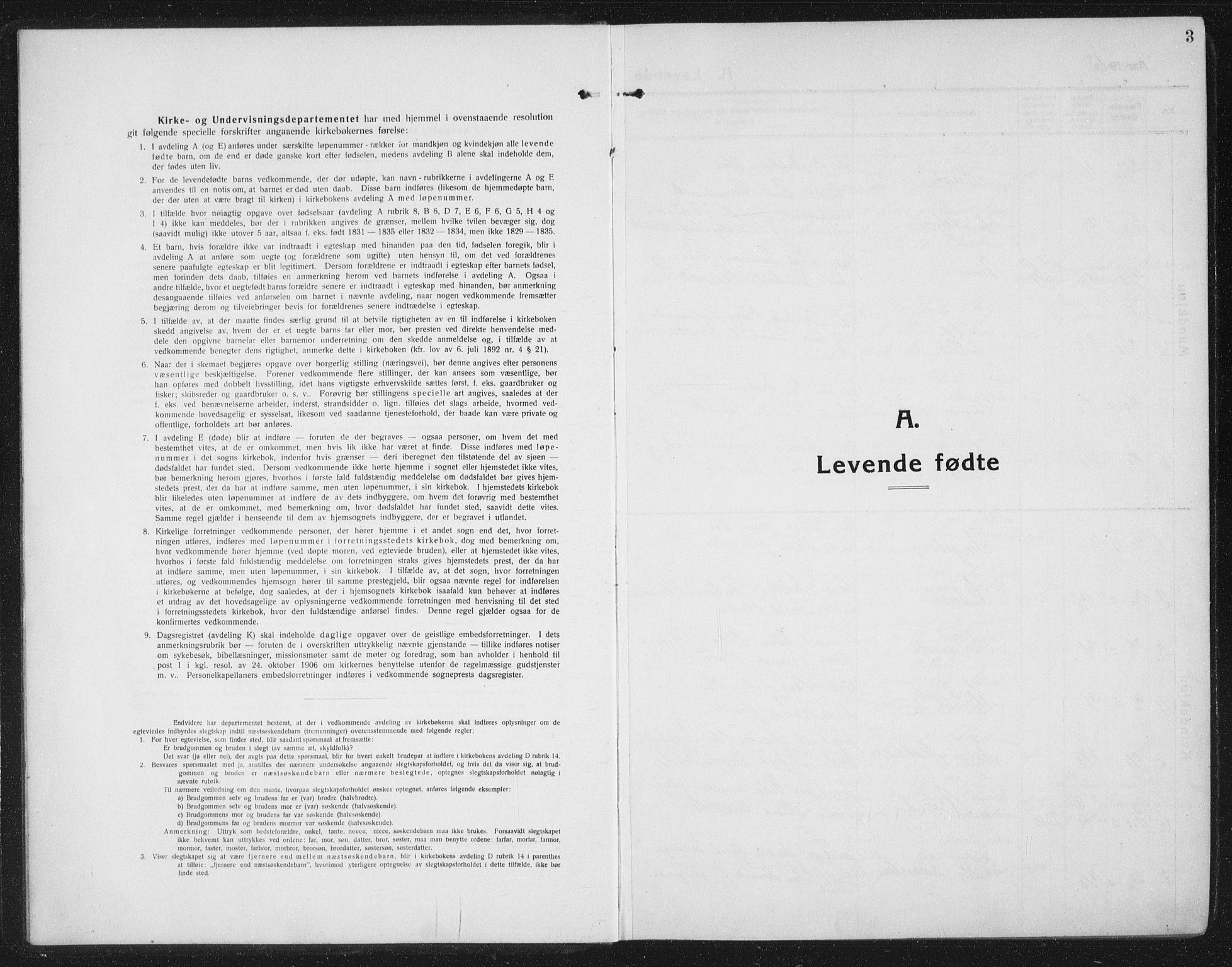 SAT, Ministerialprotokoller, klokkerbøker og fødselsregistre - Sør-Trøndelag, 674/L0877: Klokkerbok nr. 674C04, 1913-1940, s. 3
