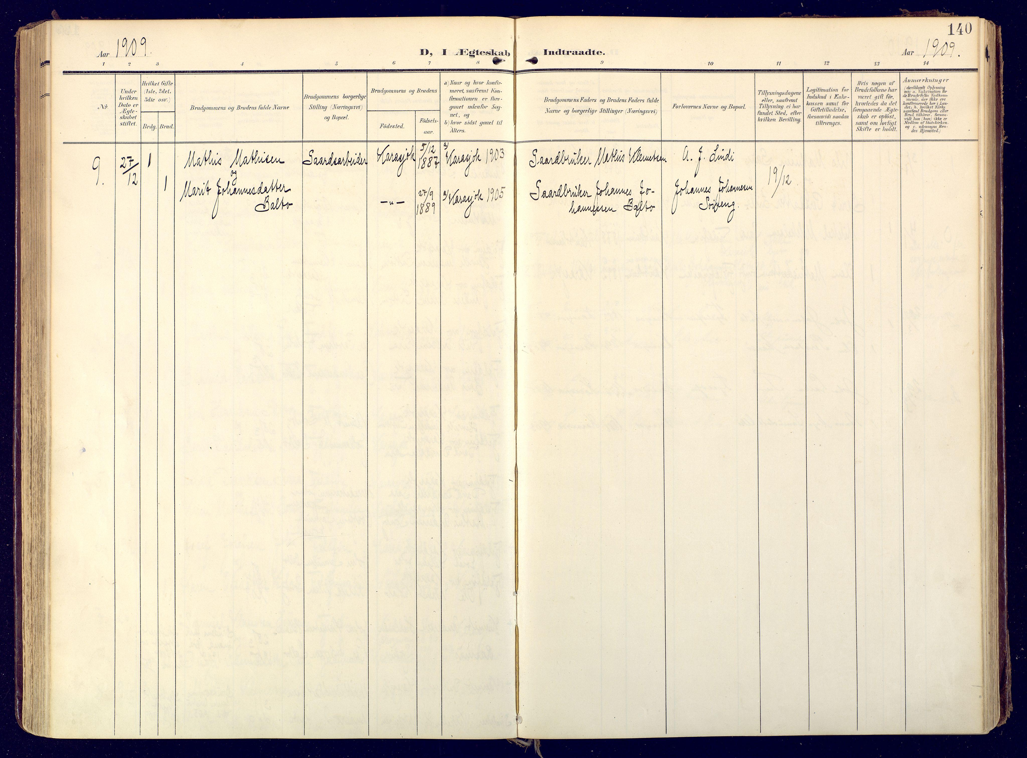 SATØ, Karasjok sokneprestkontor, H/Ha: Ministerialbok nr. 3, 1907-1926, s. 140