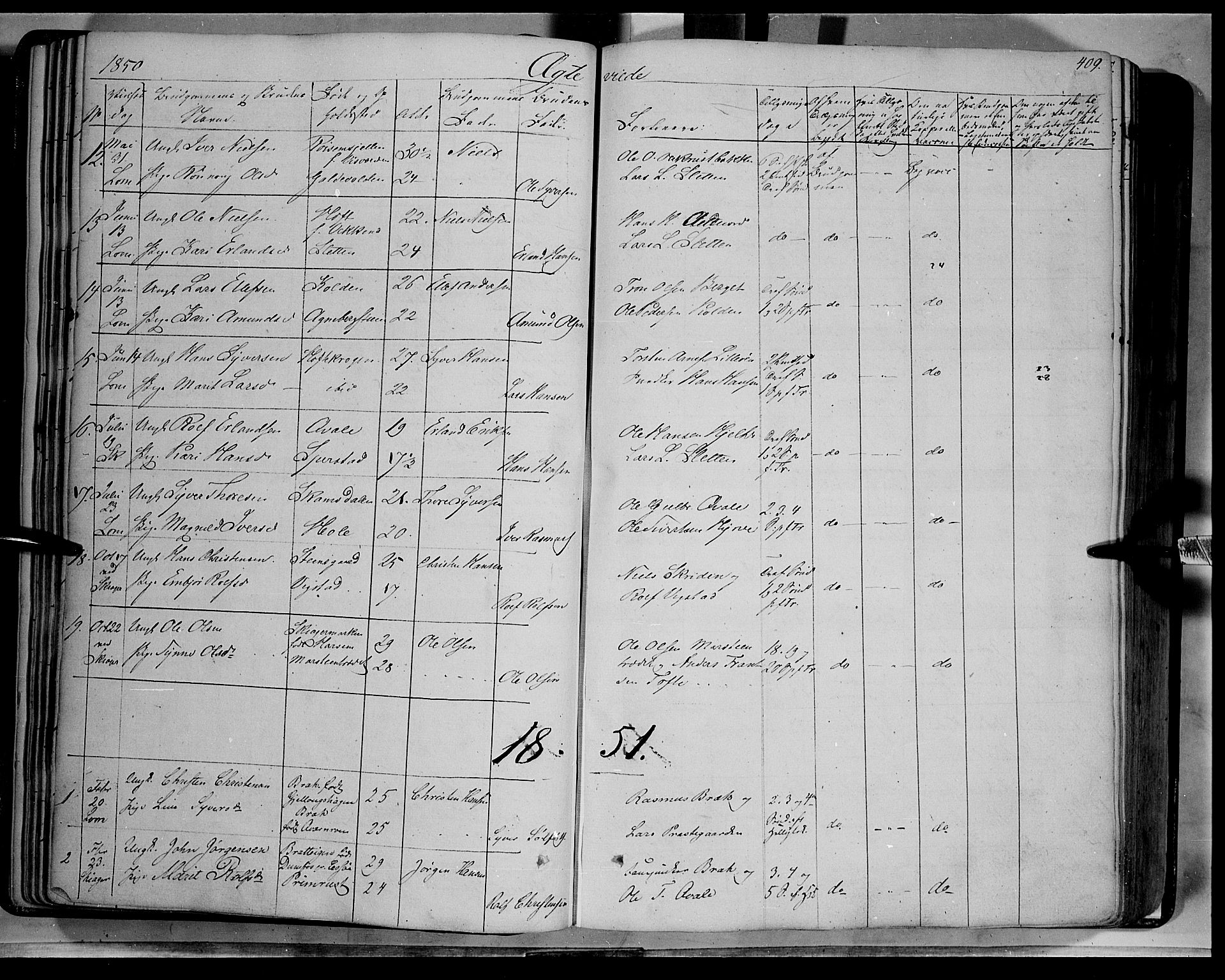 SAH, Lom prestekontor, K/L0006: Ministerialbok nr. 6B, 1837-1863, s. 409