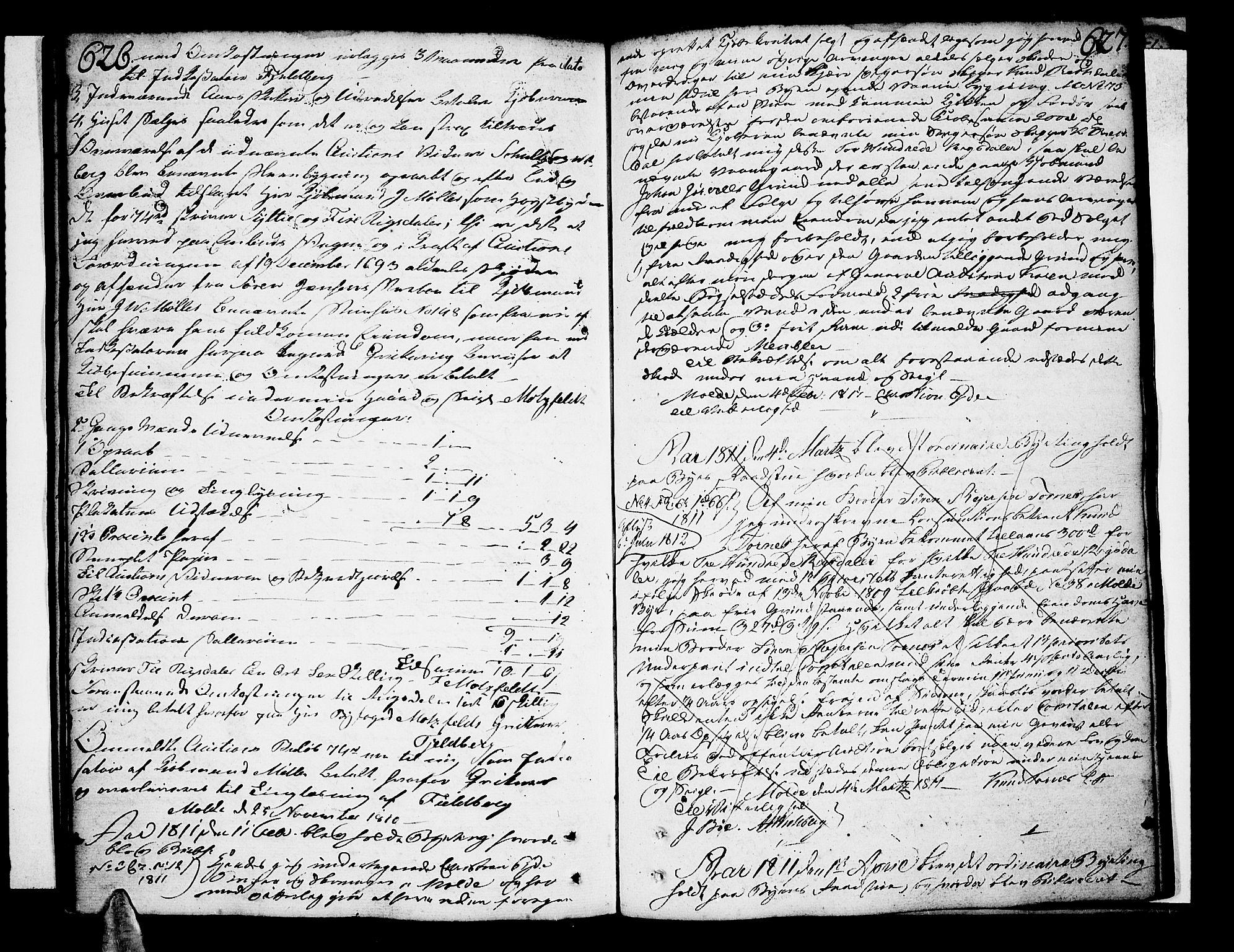 SAT, Molde byfogd, 2C/L0001: Pantebok nr. 1, 1748-1823, s. 626-627