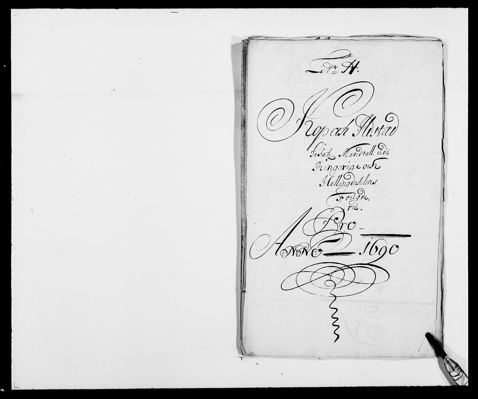 RA, Rentekammeret inntil 1814, Reviderte regnskaper, Fogderegnskap, R21/L1448: Fogderegnskap Ringerike og Hallingdal, 1690-1692, s. 108