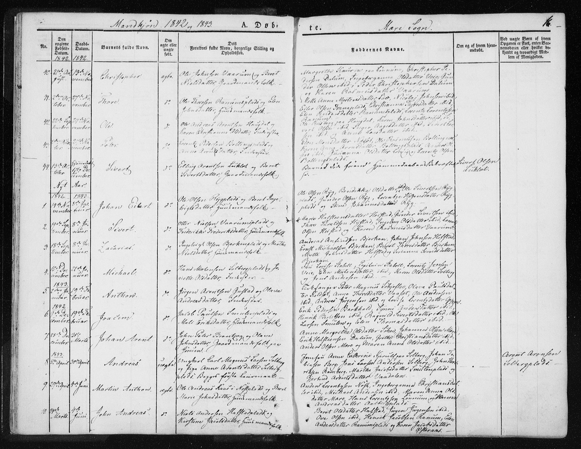 SAT, Ministerialprotokoller, klokkerbøker og fødselsregistre - Nord-Trøndelag, 735/L0339: Ministerialbok nr. 735A06 /1, 1836-1848, s. 16