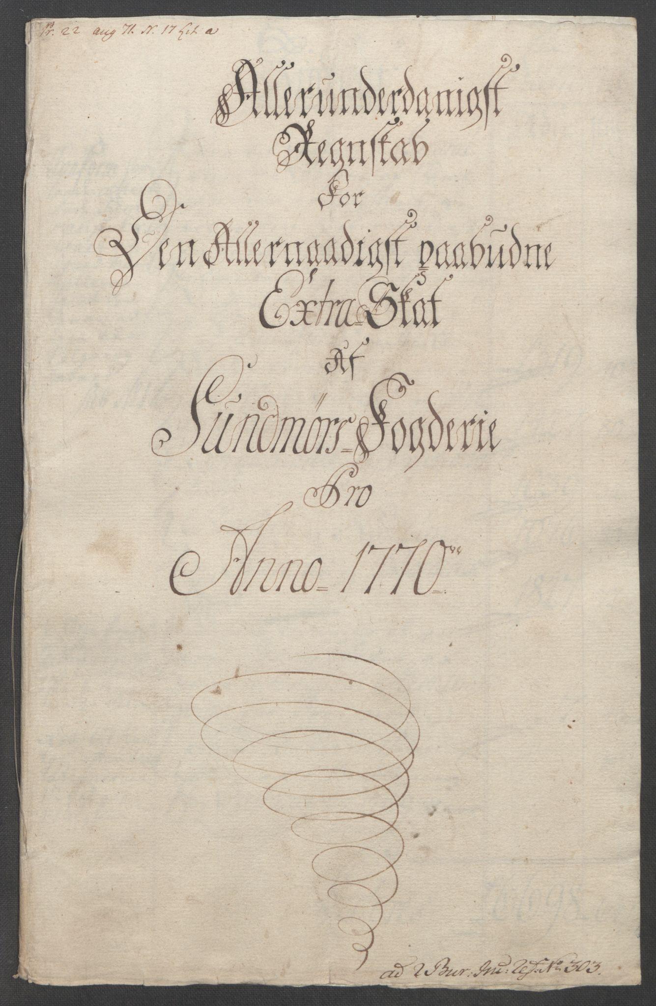 RA, Rentekammeret inntil 1814, Reviderte regnskaper, Fogderegnskap, R54/L3645: Ekstraskatten Sunnmøre, 1762-1772, s. 172