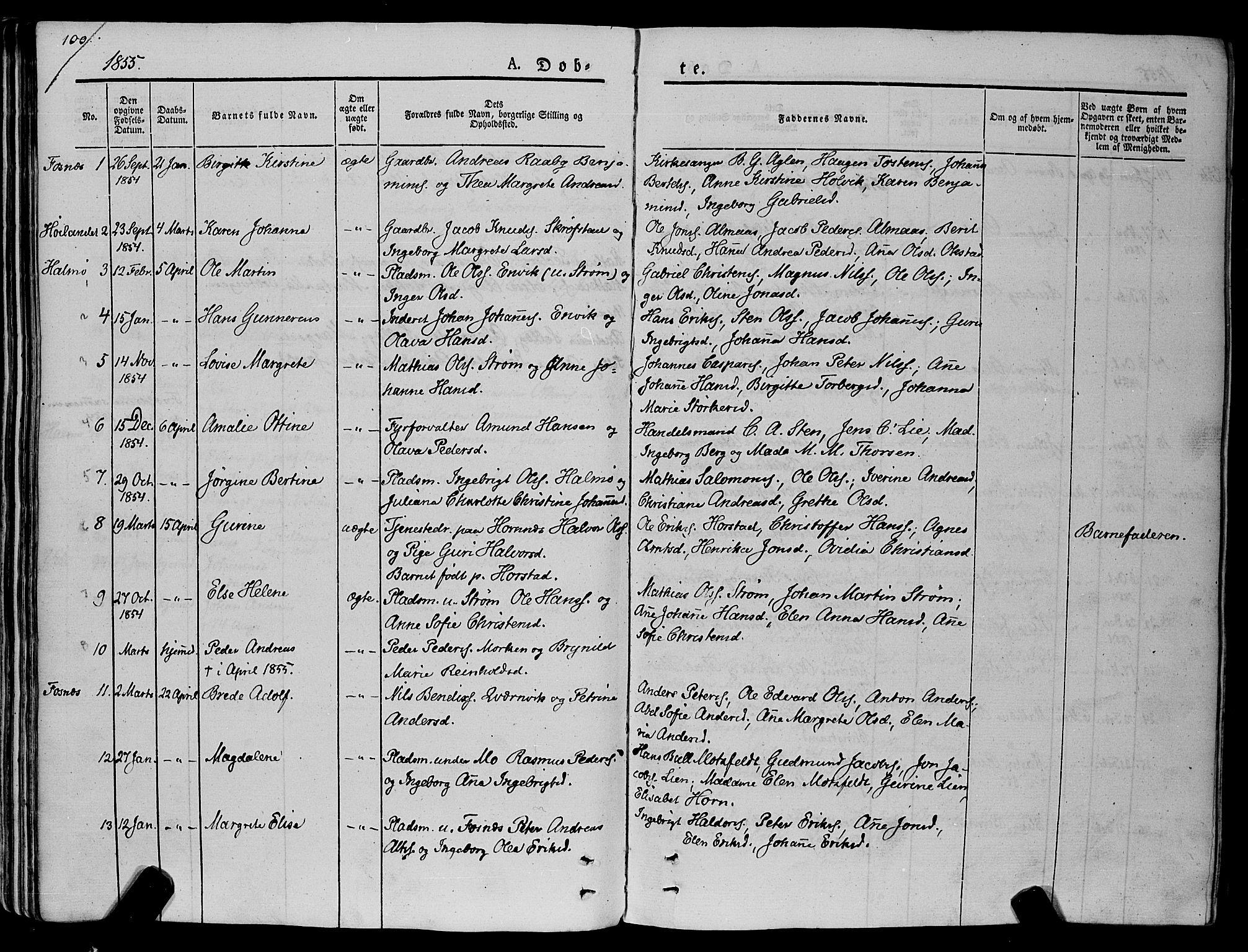 SAT, Ministerialprotokoller, klokkerbøker og fødselsregistre - Nord-Trøndelag, 773/L0614: Ministerialbok nr. 773A05, 1831-1856, s. 100