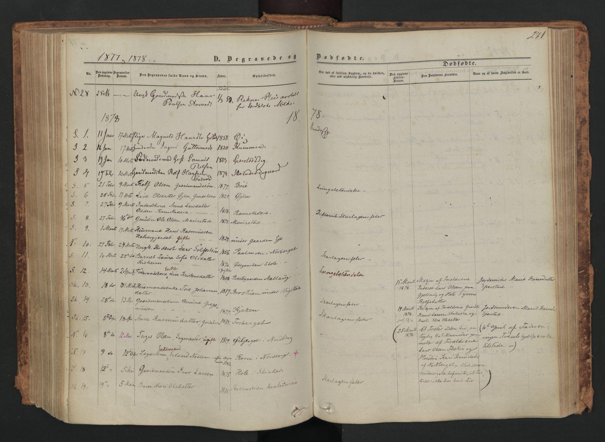 SAH, Skjåk prestekontor, Ministerialbok nr. 1, 1863-1879, s. 271