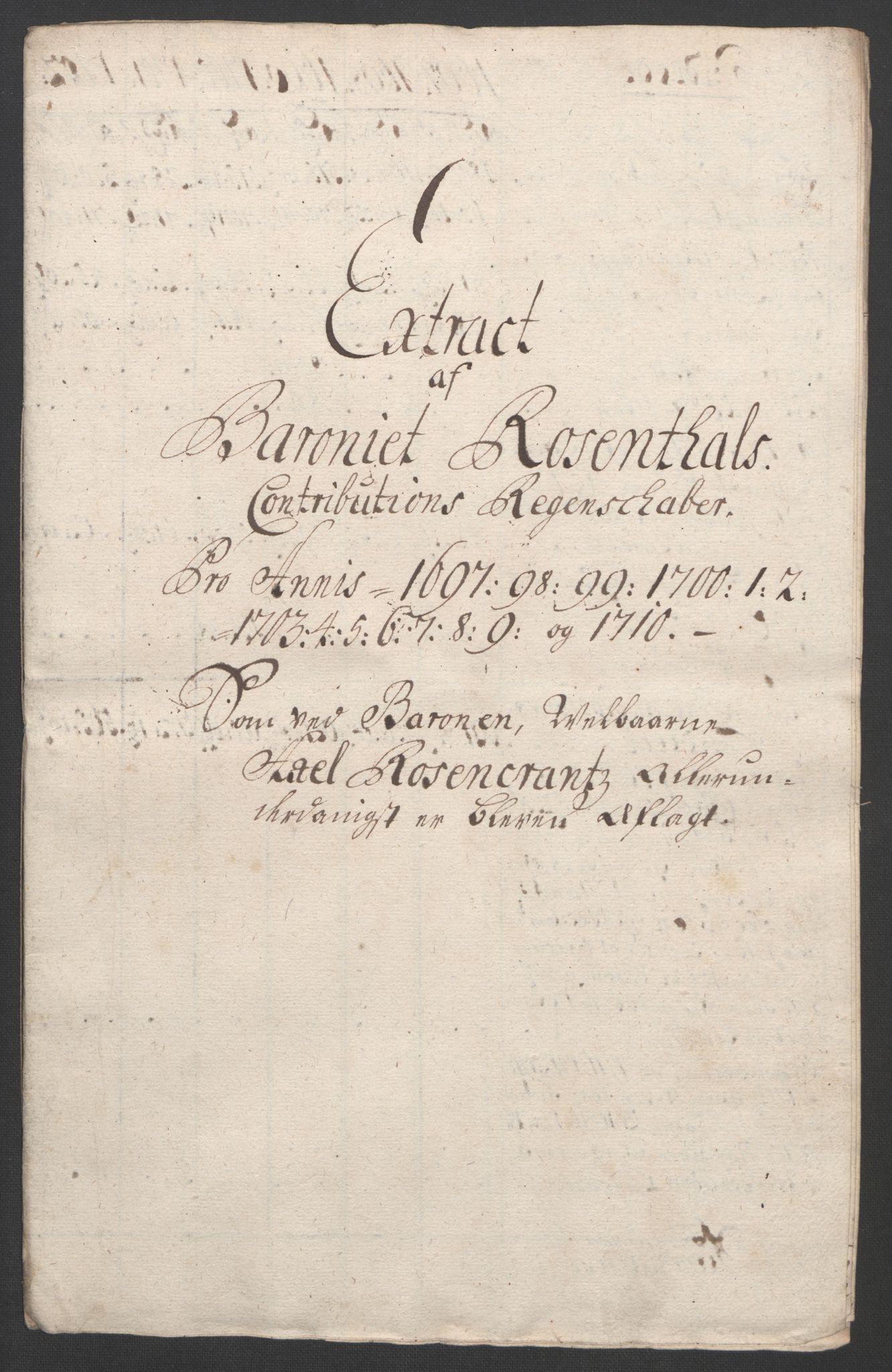 RA, Rentekammeret inntil 1814, Reviderte regnskaper, Fogderegnskap, R49/L3138: Fogderegnskap Rosendal Baroni, 1691-1714, s. 245