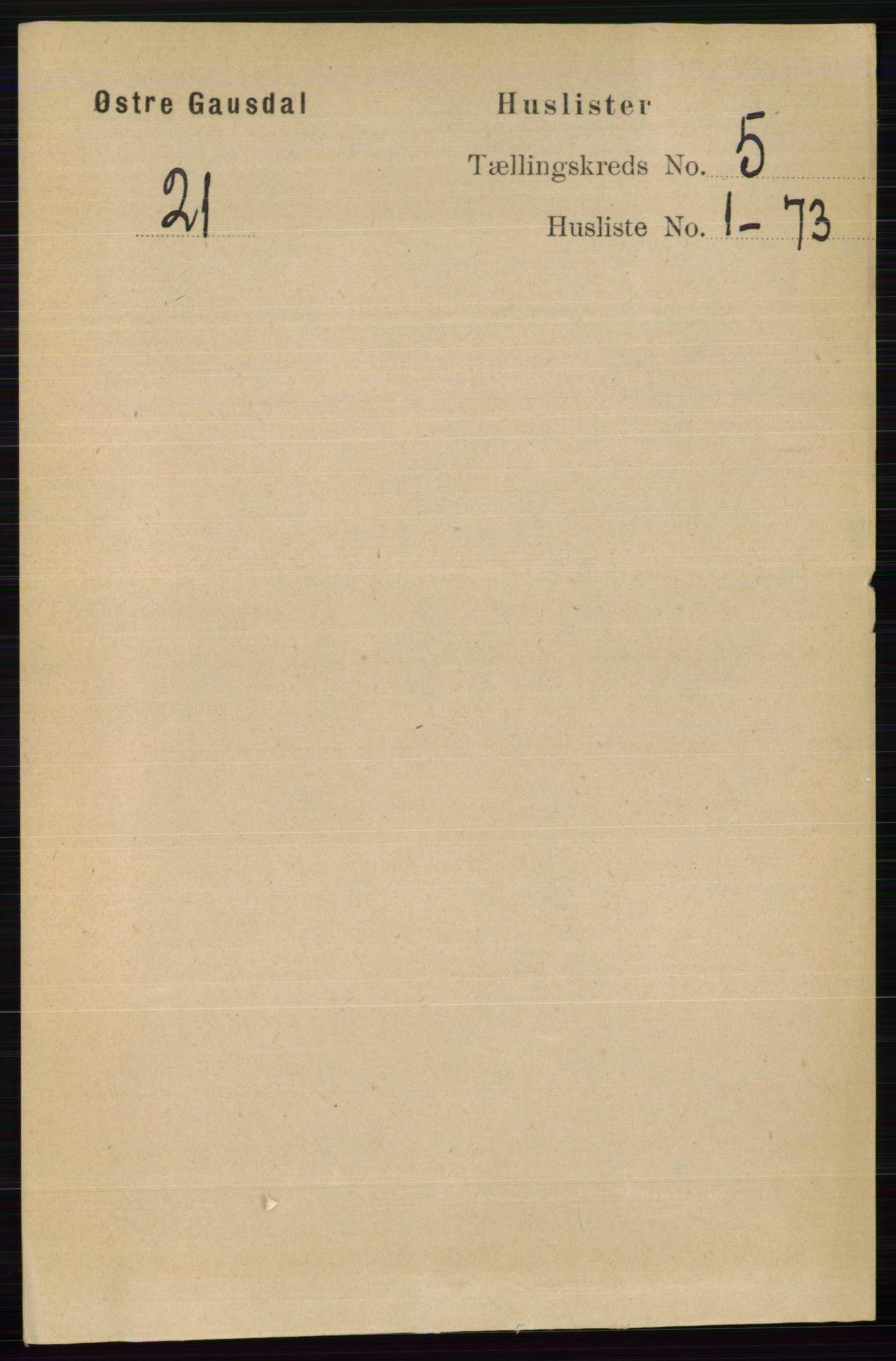 RA, Folketelling 1891 for 0522 Østre Gausdal herred, 1891, s. 2915