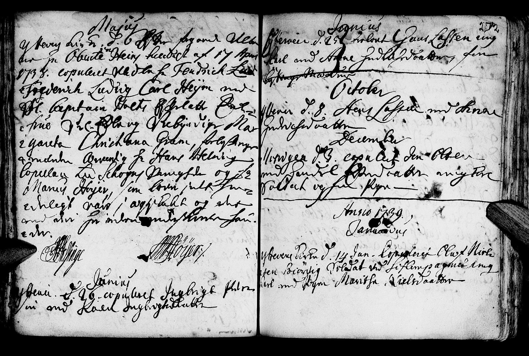 SAT, Ministerialprotokoller, klokkerbøker og fødselsregistre - Nord-Trøndelag, 722/L0215: Ministerialbok nr. 722A02, 1718-1755, s. 272
