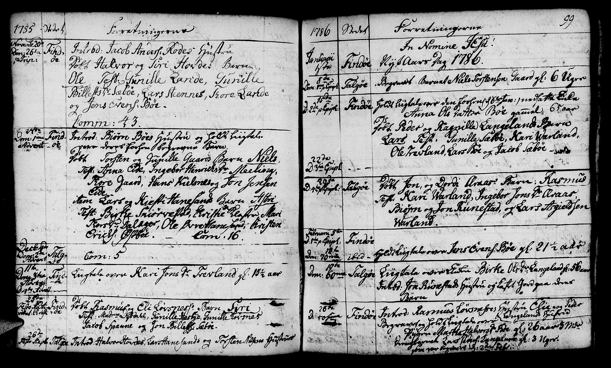 SAST, Finnøy sokneprestkontor, H/Ha/Haa/L0005: Ministerialbok nr. A 5, 1773-1816, s. 99