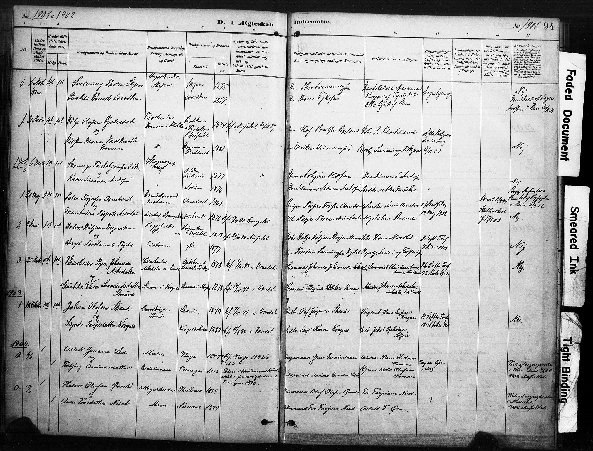 SAKO, Kviteseid kirkebøker, F/Fc/L0002: Ministerialbok nr. III 2, 1882-1908, s. 94