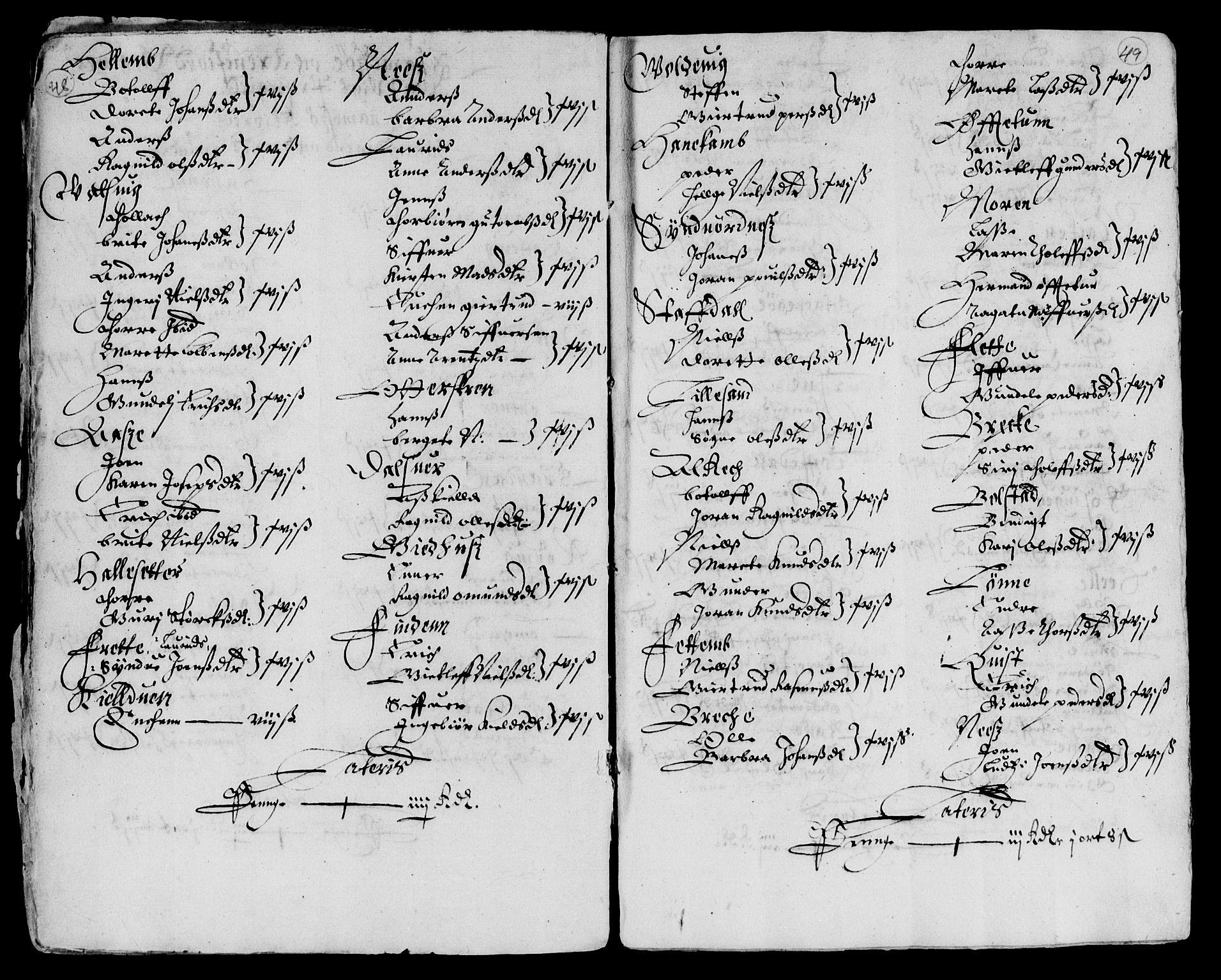 RA, Rentekammeret inntil 1814, Reviderte regnskaper, Lensregnskaper, R/Rb/Rbt/L0103: Bergenhus len, 1643-1647