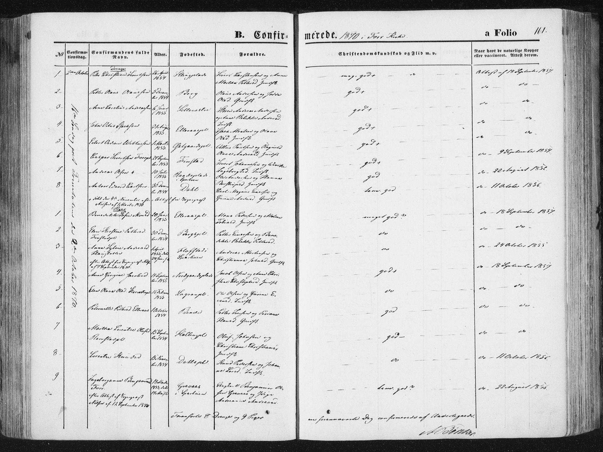 SAT, Ministerialprotokoller, klokkerbøker og fødselsregistre - Nord-Trøndelag, 746/L0447: Ministerialbok nr. 746A06, 1860-1877, s. 161