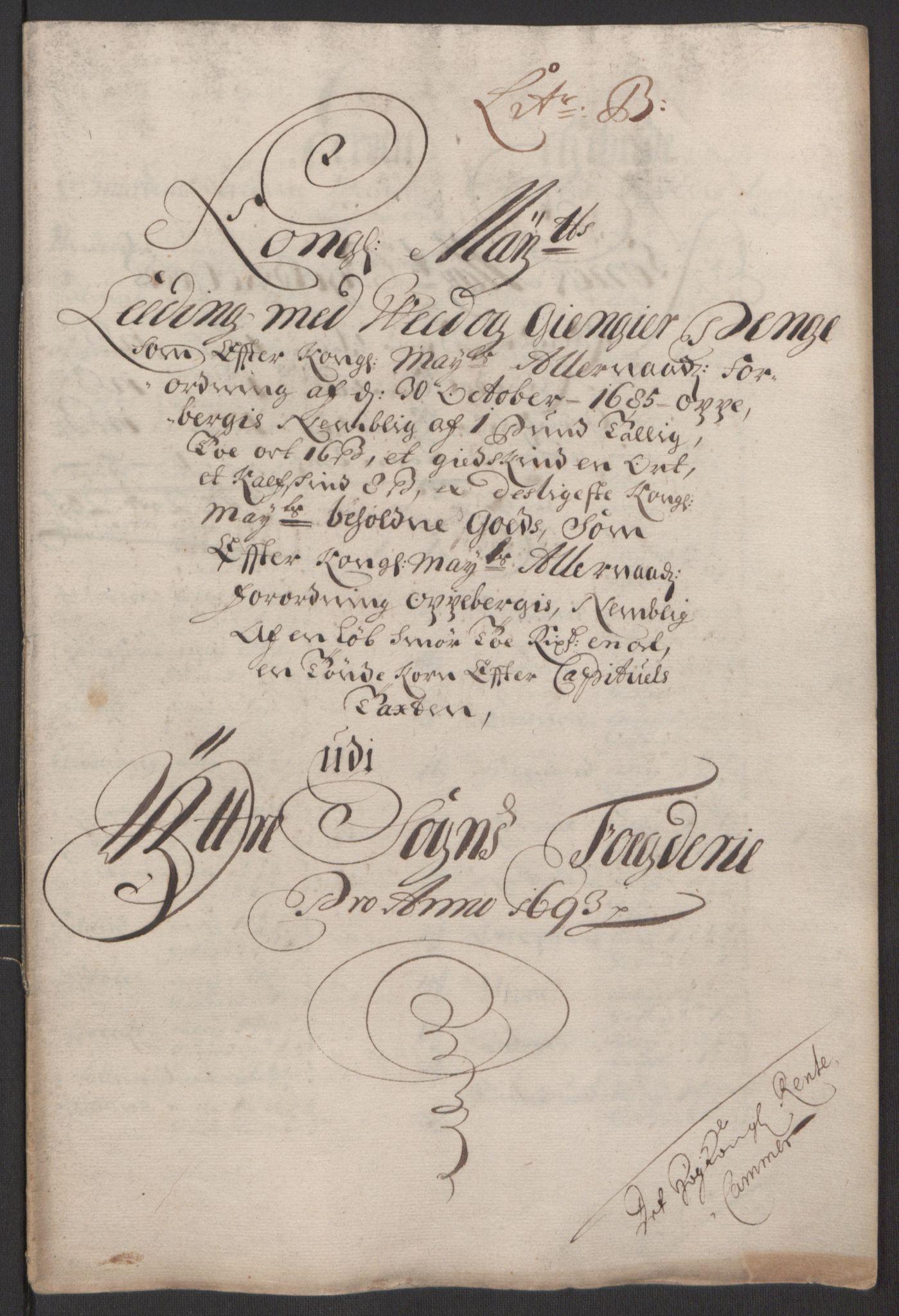 RA, Rentekammeret inntil 1814, Reviderte regnskaper, Fogderegnskap, R52/L3307: Fogderegnskap Sogn, 1693-1694, s. 203
