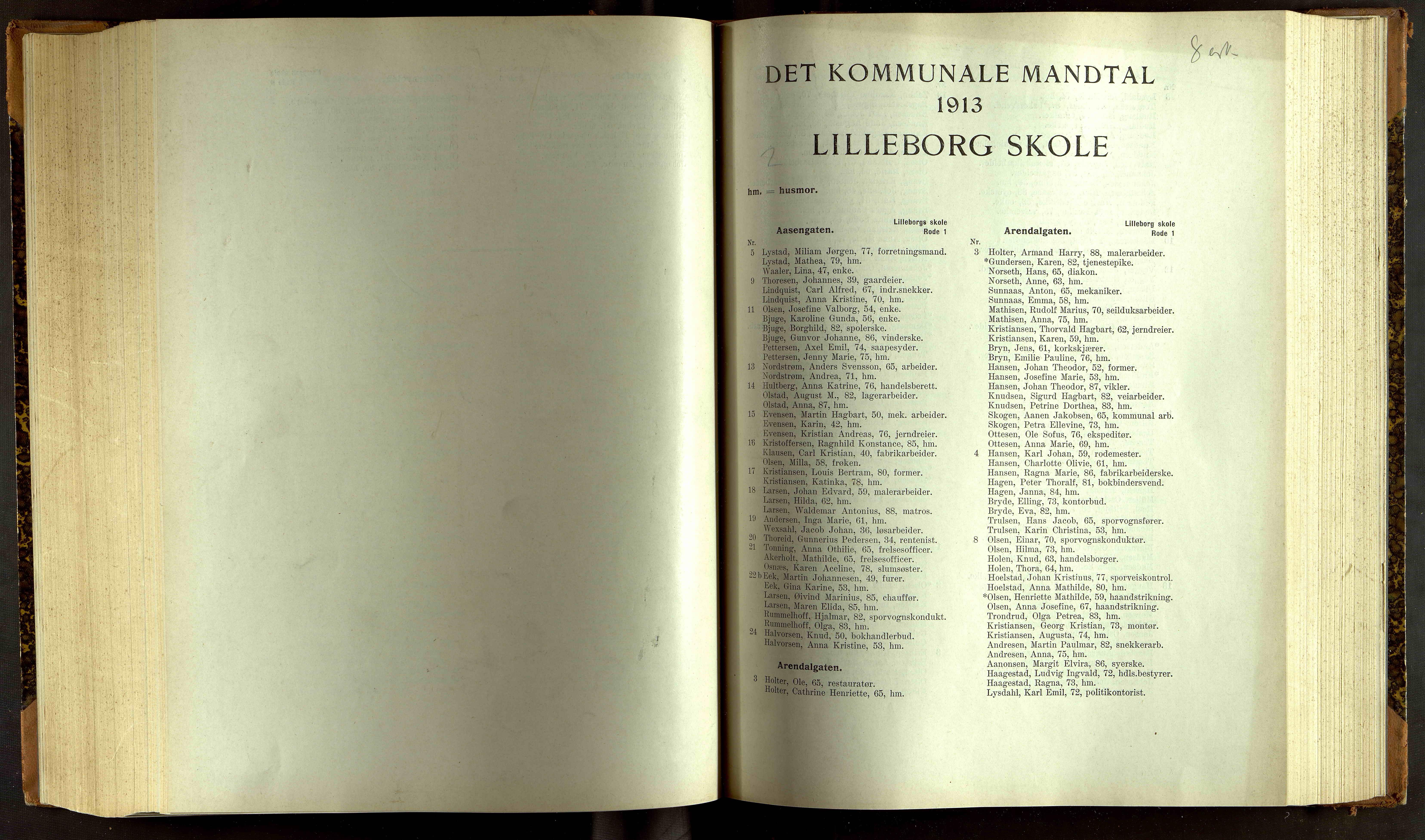 OBA, Folkeregisteret ( Valgstyret ), 1913, s. 7001