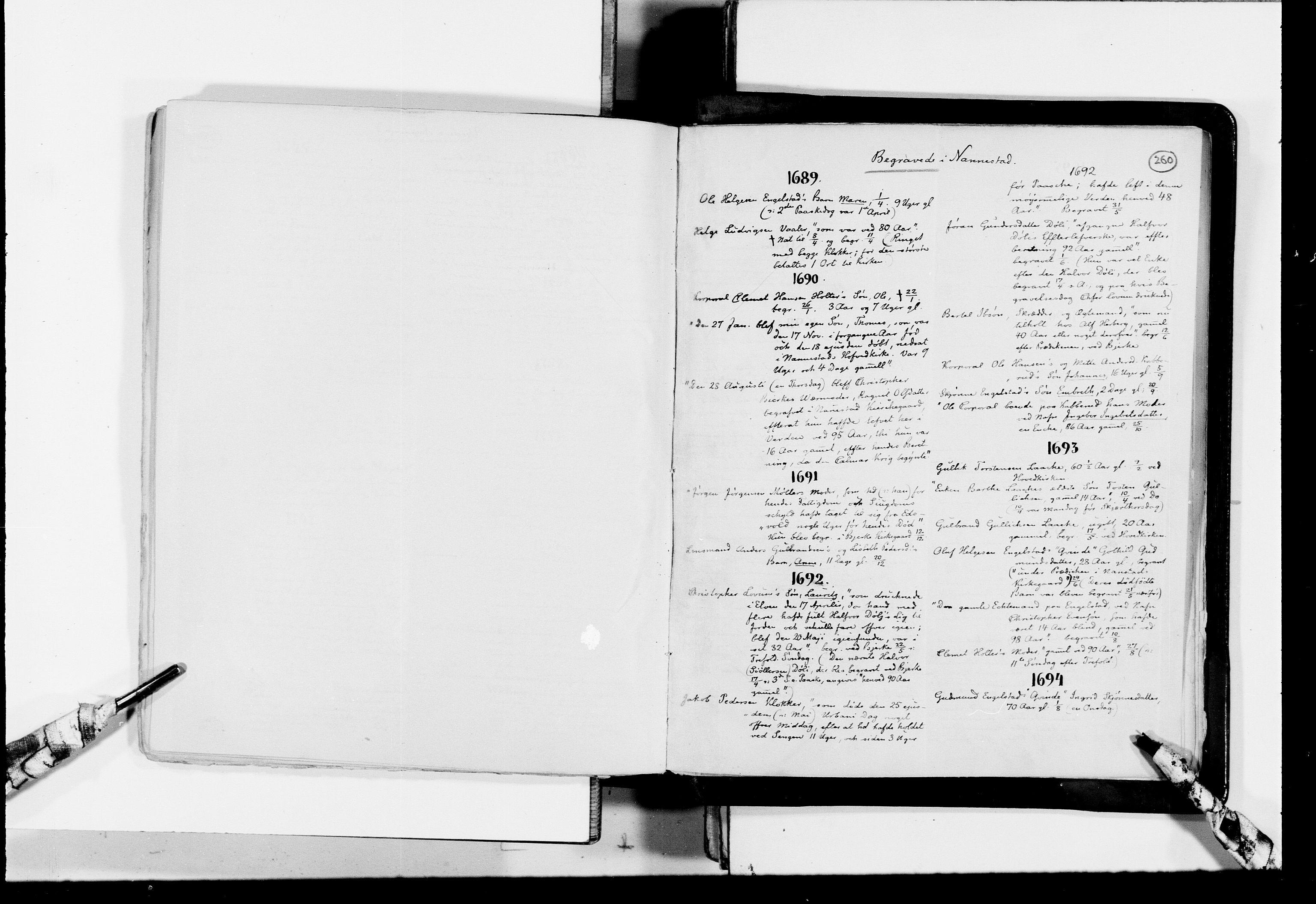 RA, Lassens samlinger, F/Fc, s. 260