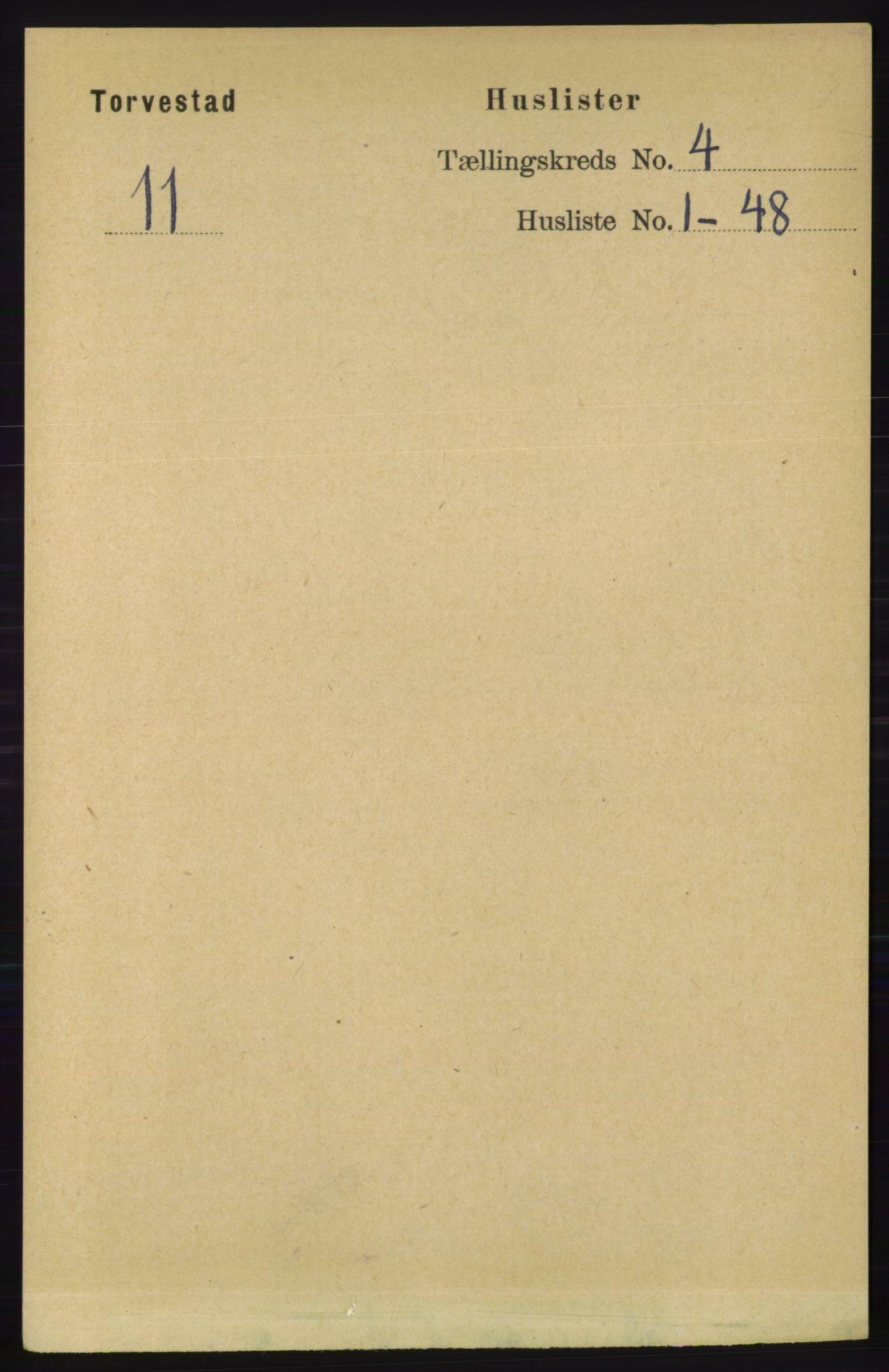 RA, Folketelling 1891 for 1152 Torvastad herred, 1891, s. 1421