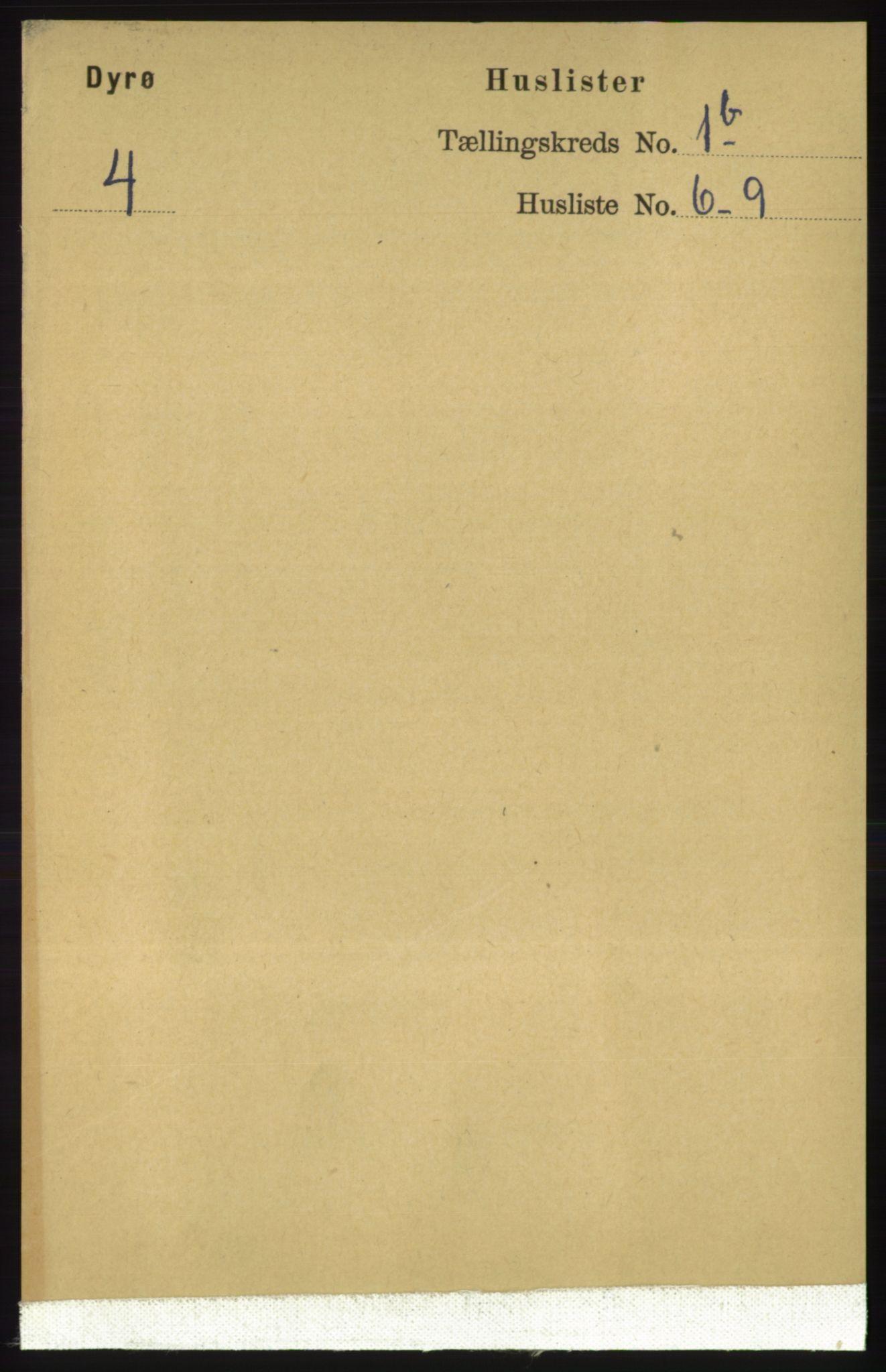 RA, Folketelling 1891 for 1926 Dyrøy herred, 1891, s. 412