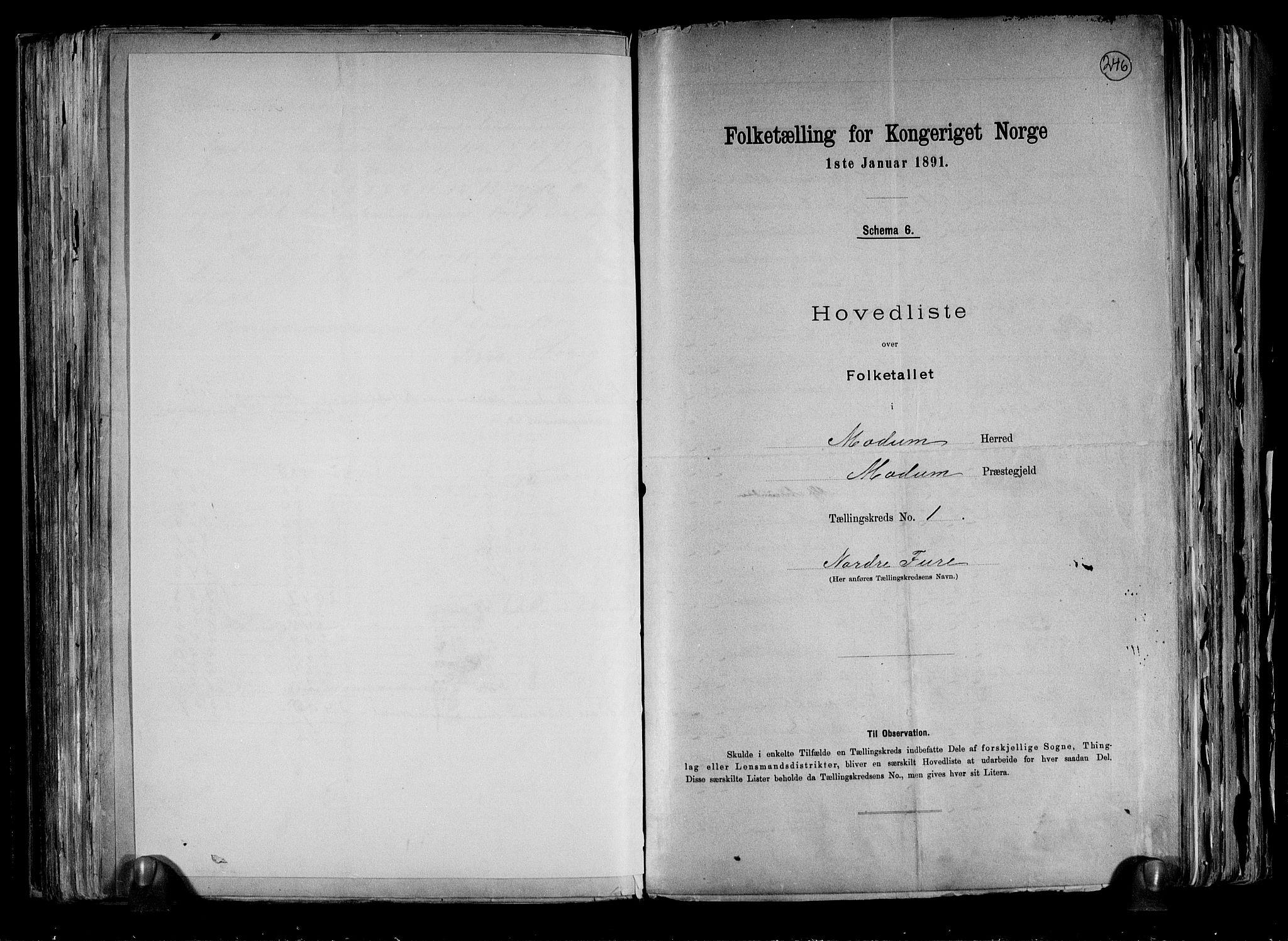 RA, Folketelling 1891 for 0623 Modum herred, 1891, s. 8