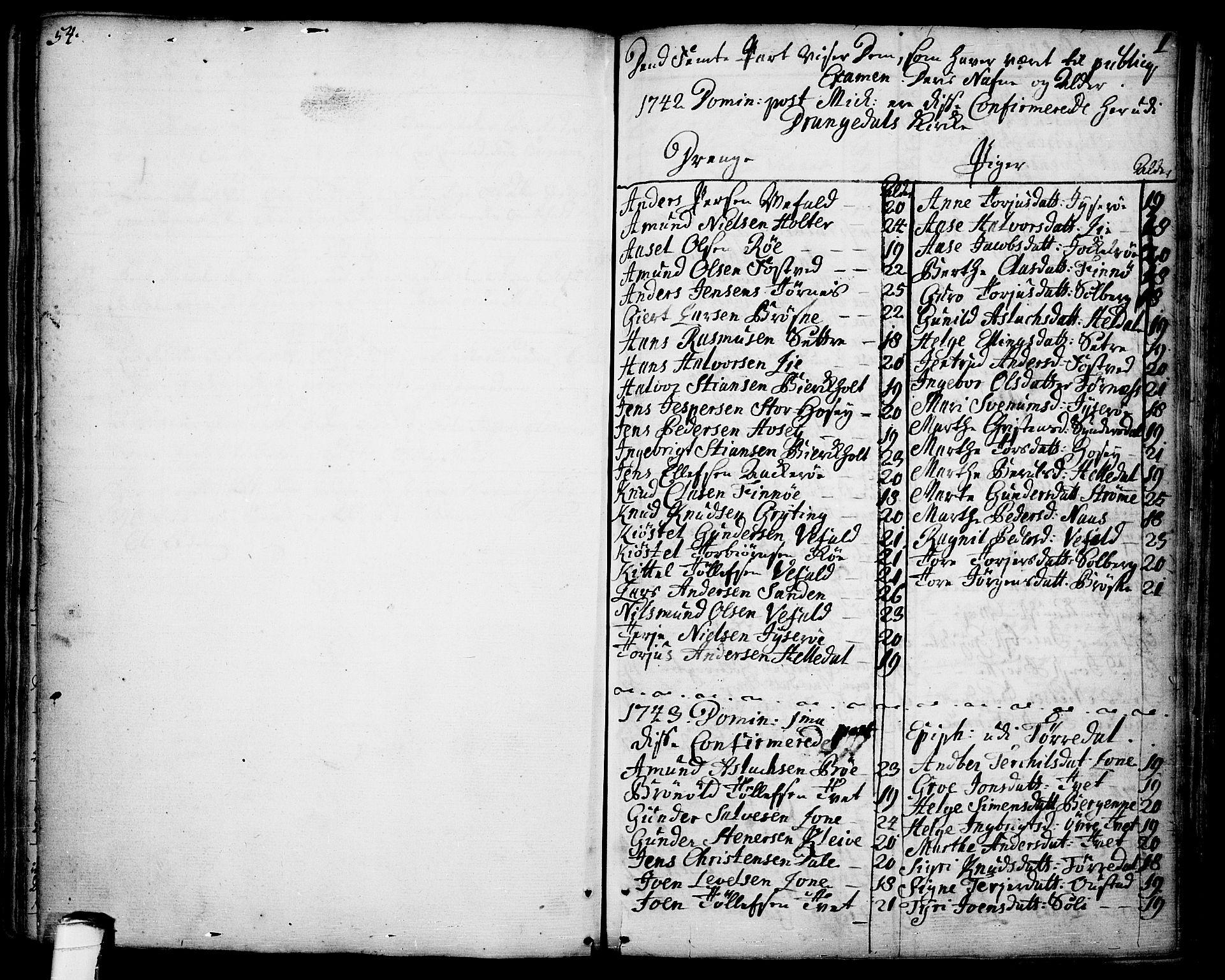 SAKO, Drangedal kirkebøker, F/Fa/L0001: Ministerialbok nr. 1, 1697-1767, s. 0-1