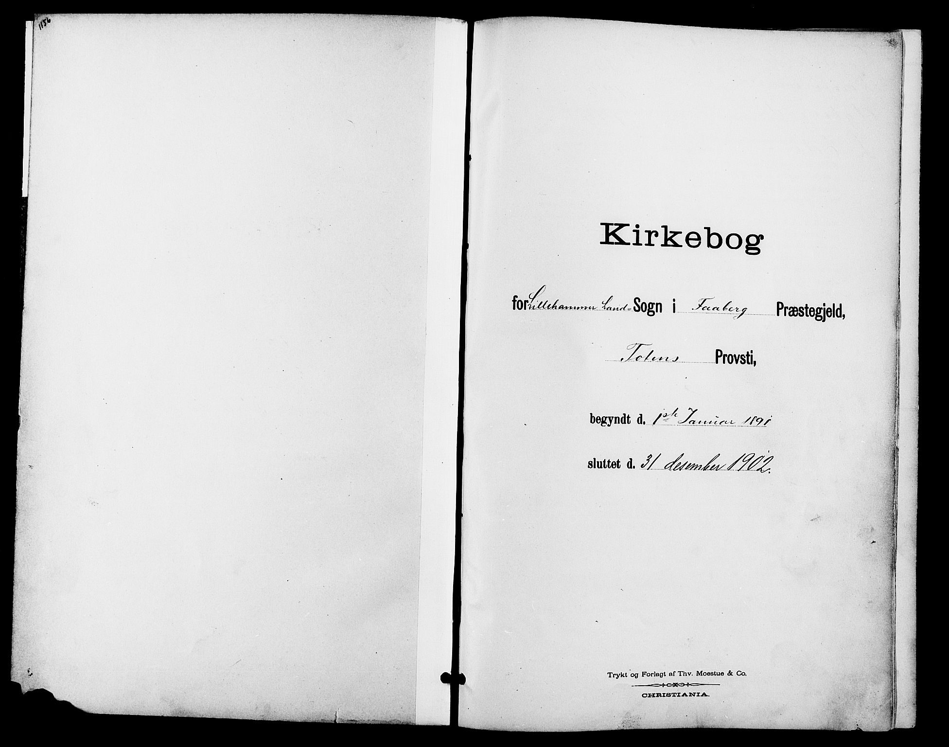 SAH, Fåberg prestekontor, Klokkerbok nr. 9, 1891-1902