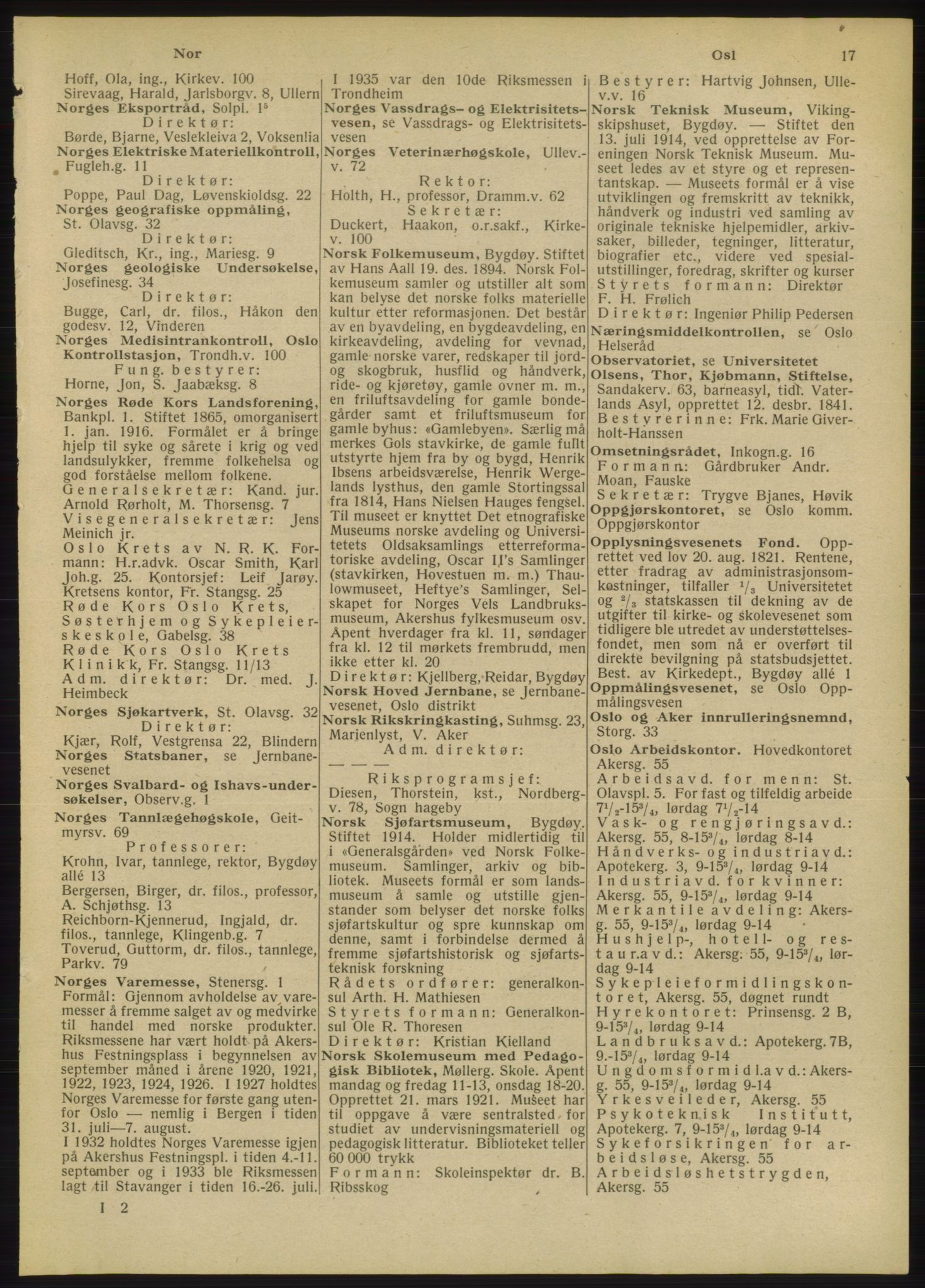 RA, Oslo adressebok (publikasjon)*, 1947, s. 17