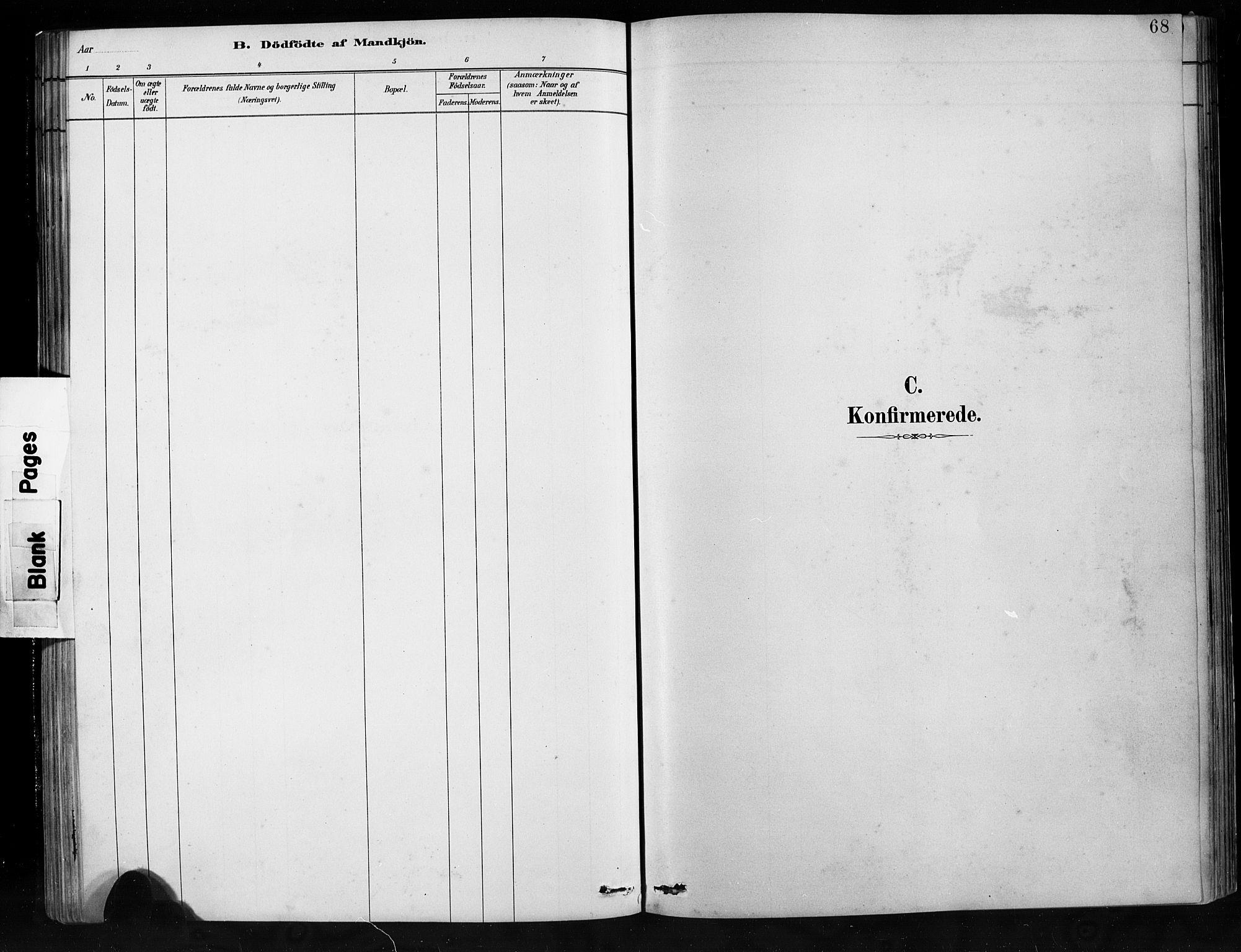 SAB, Jostedal sokneprestembete, H/Hab/Habb/L0001: Klokkerbok nr. B 1, 1882-1921, s. 68