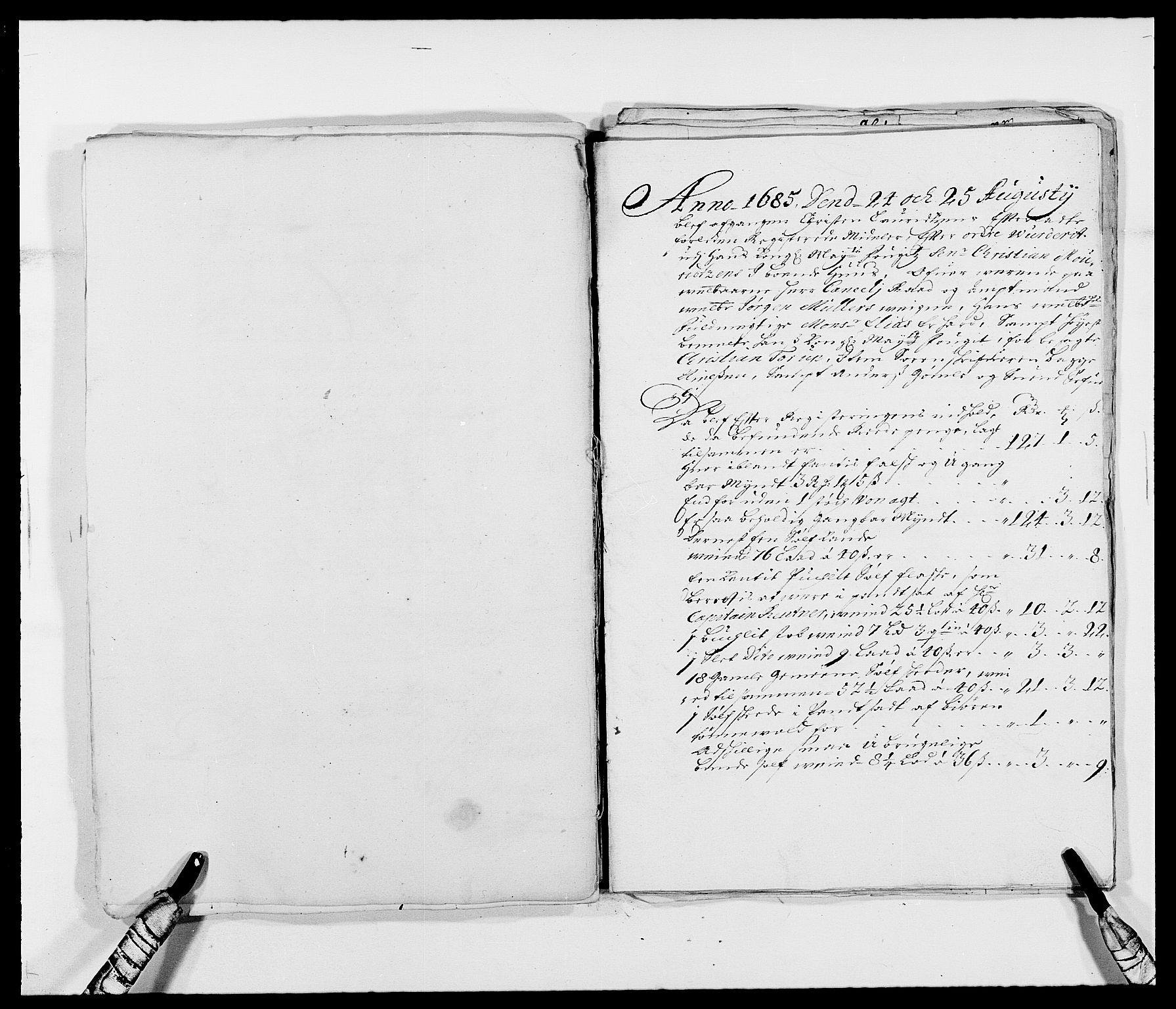 RA, Rentekammeret inntil 1814, Reviderte regnskaper, Fogderegnskap, R39/L2308: Fogderegnskap Nedenes, 1684-1689, s. 67
