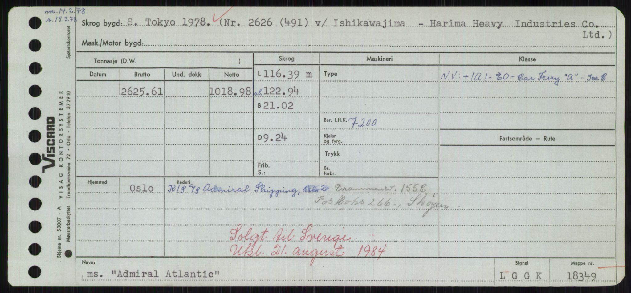 RA, Sjøfartsdirektoratet med forløpere, Skipsmålingen, H/Hd/L0001: Fartøy, A-Anv, s. 73