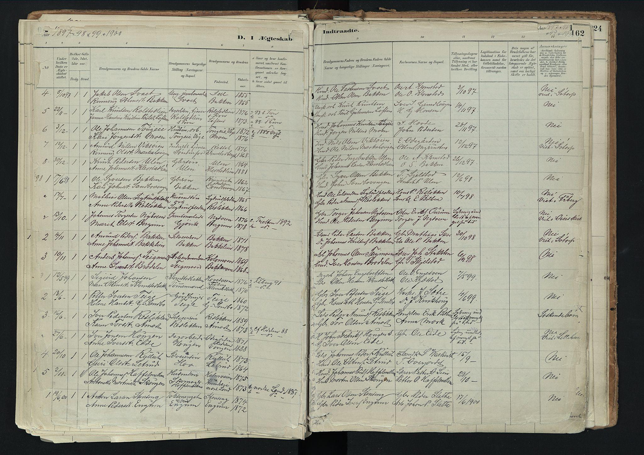 SAH, Nord-Fron prestekontor, Ministerialbok nr. 3, 1884-1914, s. 161