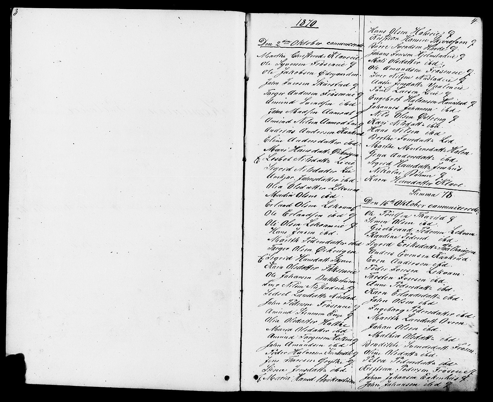 SAH, Østre Gausdal prestekontor, Klokkerbok nr. 1, 1863-1893, s. 3-4