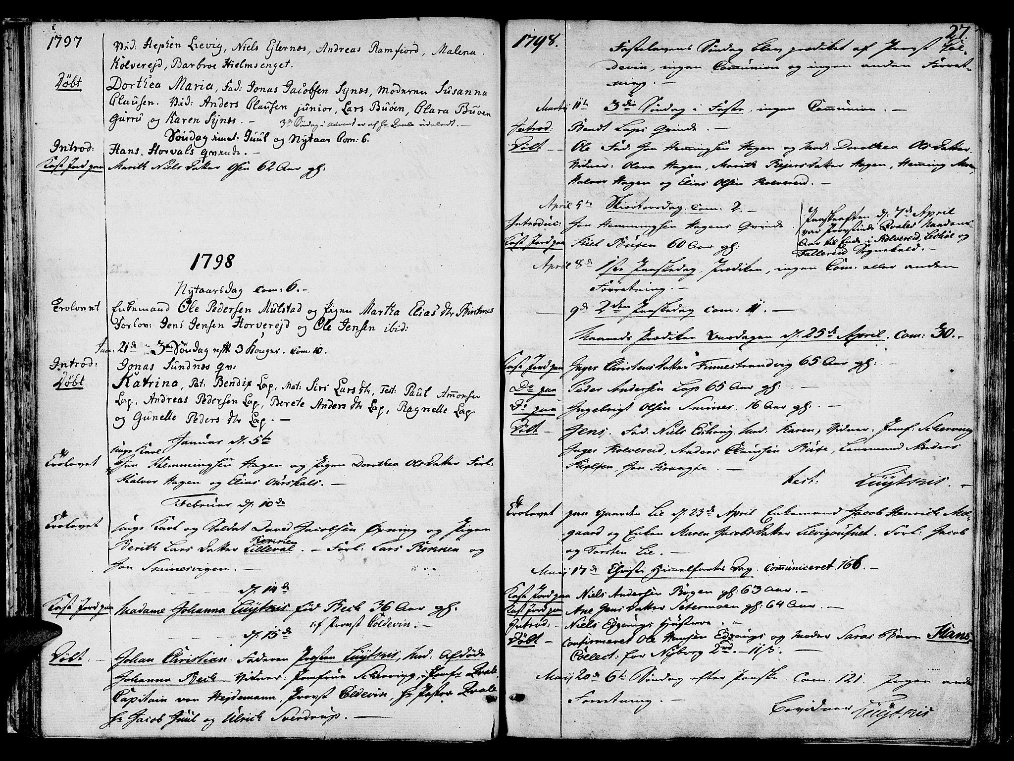 SAT, Ministerialprotokoller, klokkerbøker og fødselsregistre - Nord-Trøndelag, 780/L0633: Ministerialbok nr. 780A02 /1, 1787-1814, s. 27
