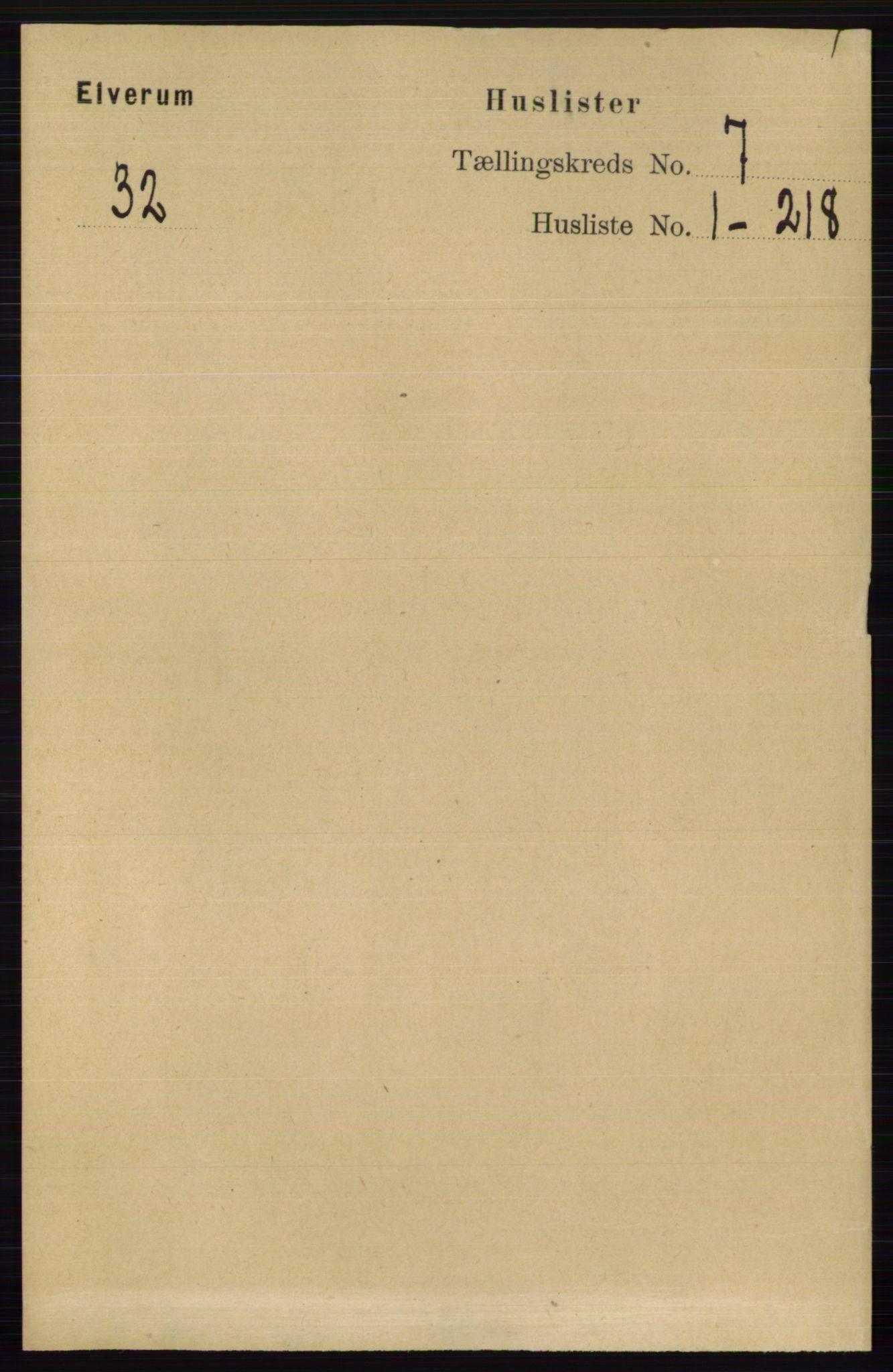 RA, Folketelling 1891 for 0427 Elverum herred, 1891, s. 5449