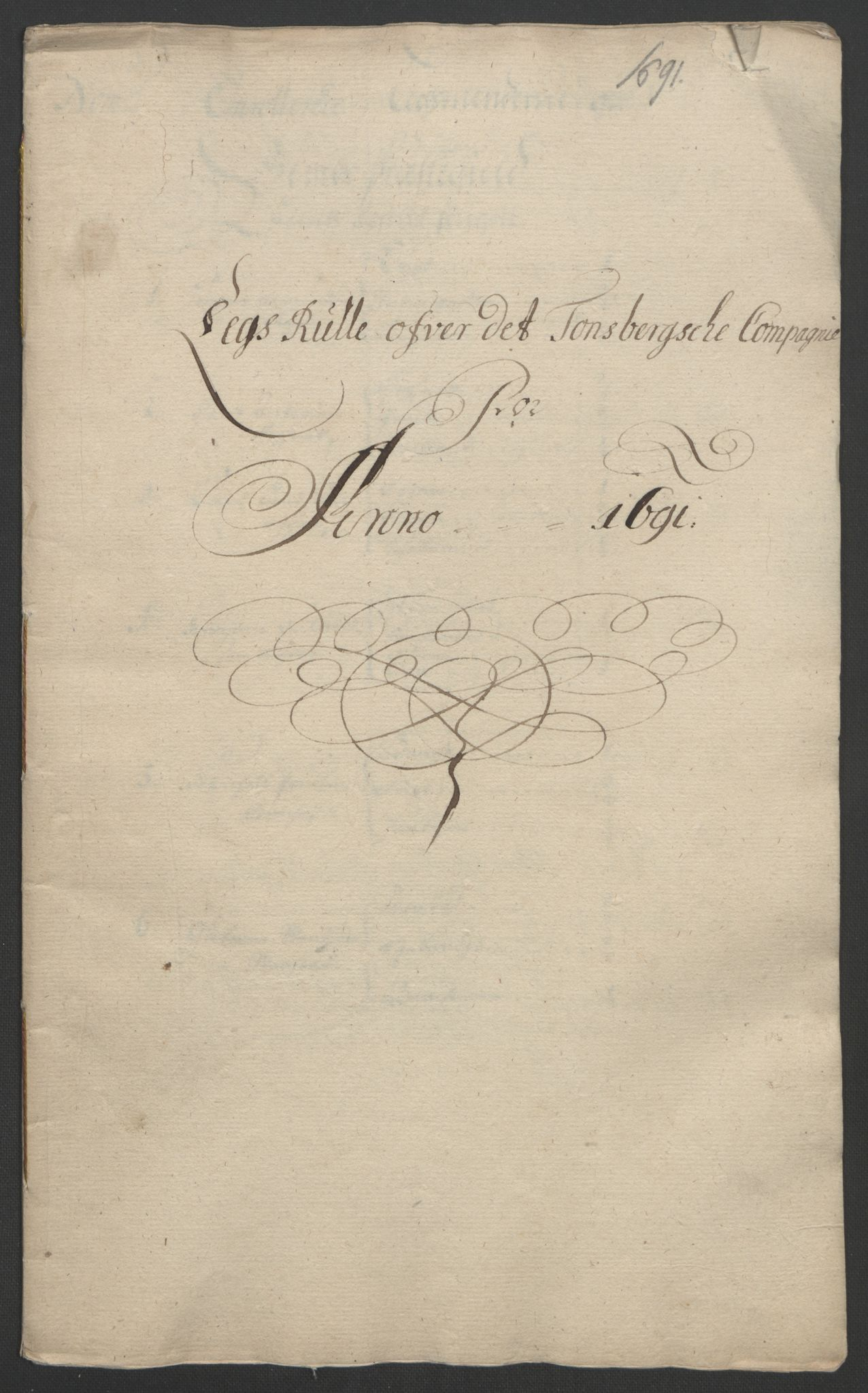 RA, Rentekammeret inntil 1814, Reviderte regnskaper, Fogderegnskap, R32/L1864: Fogderegnskap Jarlsberg grevskap, 1691, s. 75