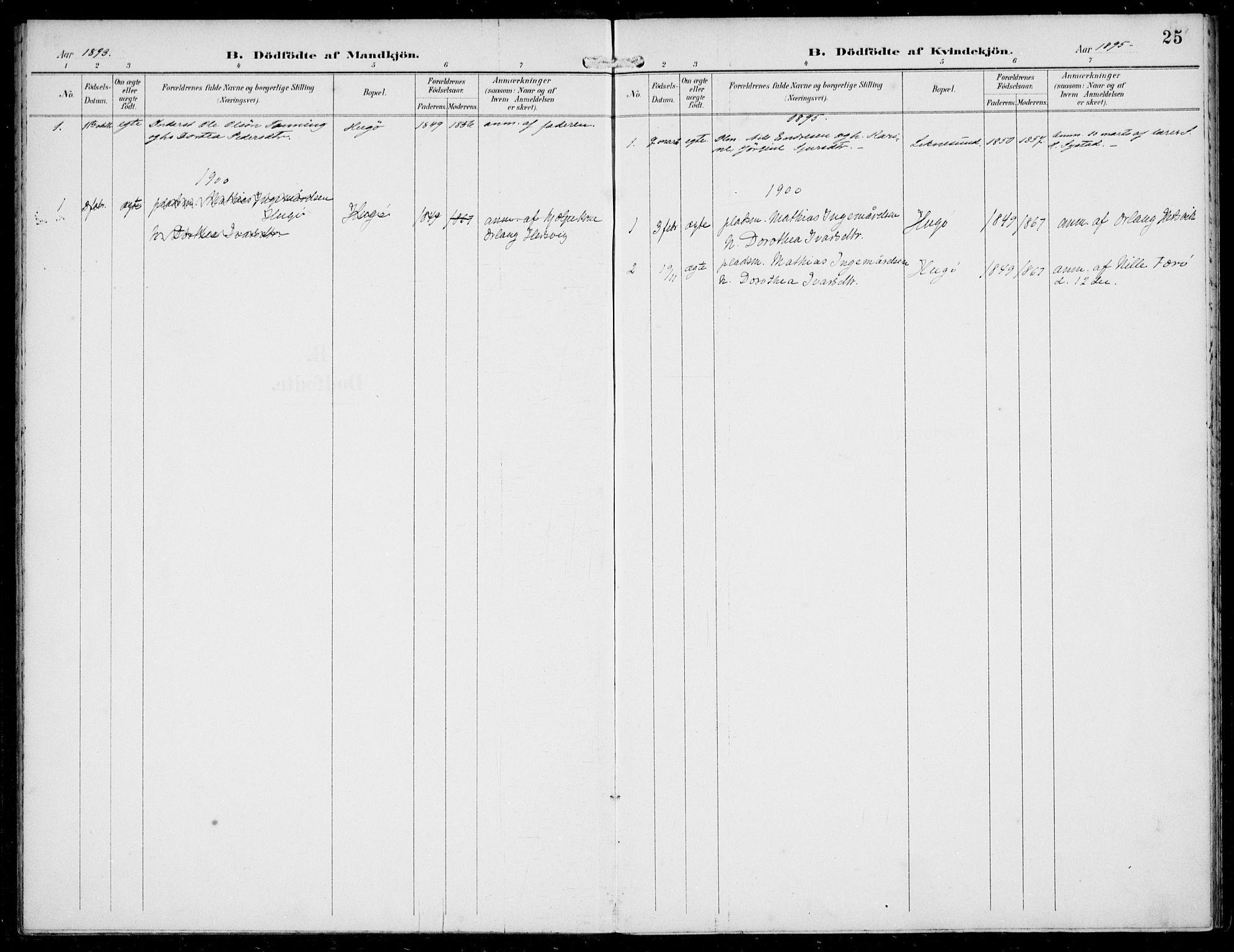 SAB, Solund sokneprestembete, Ministerialbok nr. B  1, 1891-1901, s. 25