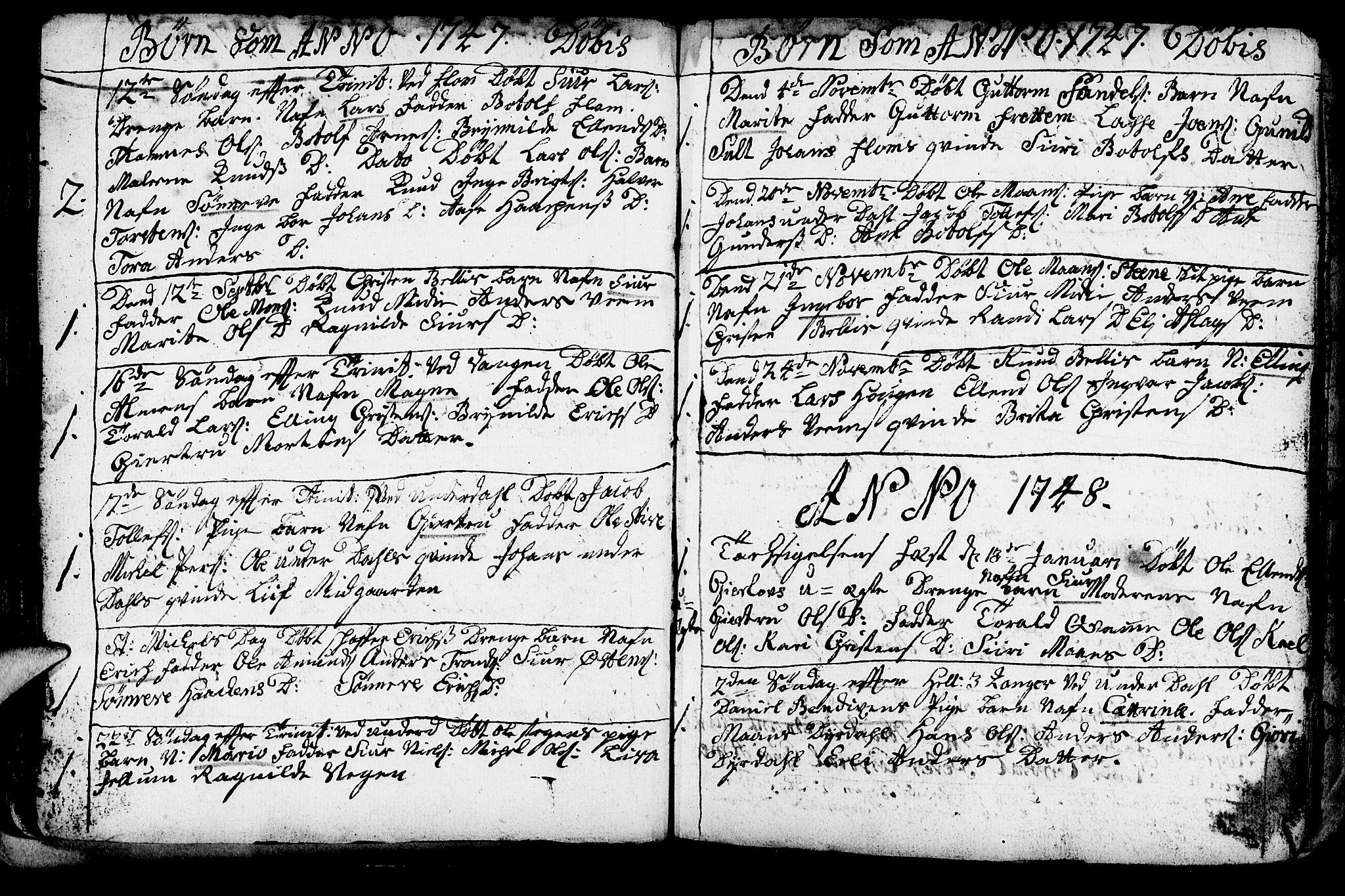 SAB, Aurland Sokneprestembete*, Ministerialbok nr. A 3, 1735-1761, s. 50