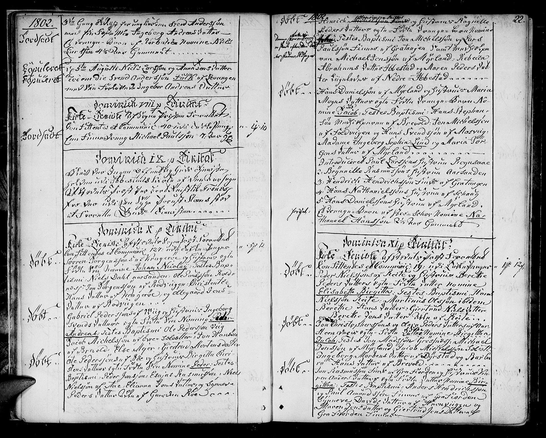 SATØ, Ibestad sokneprestembete, H/Ha/Haa/L0004kirke: Ministerialbok nr. 4, 1801-1824, s. 22