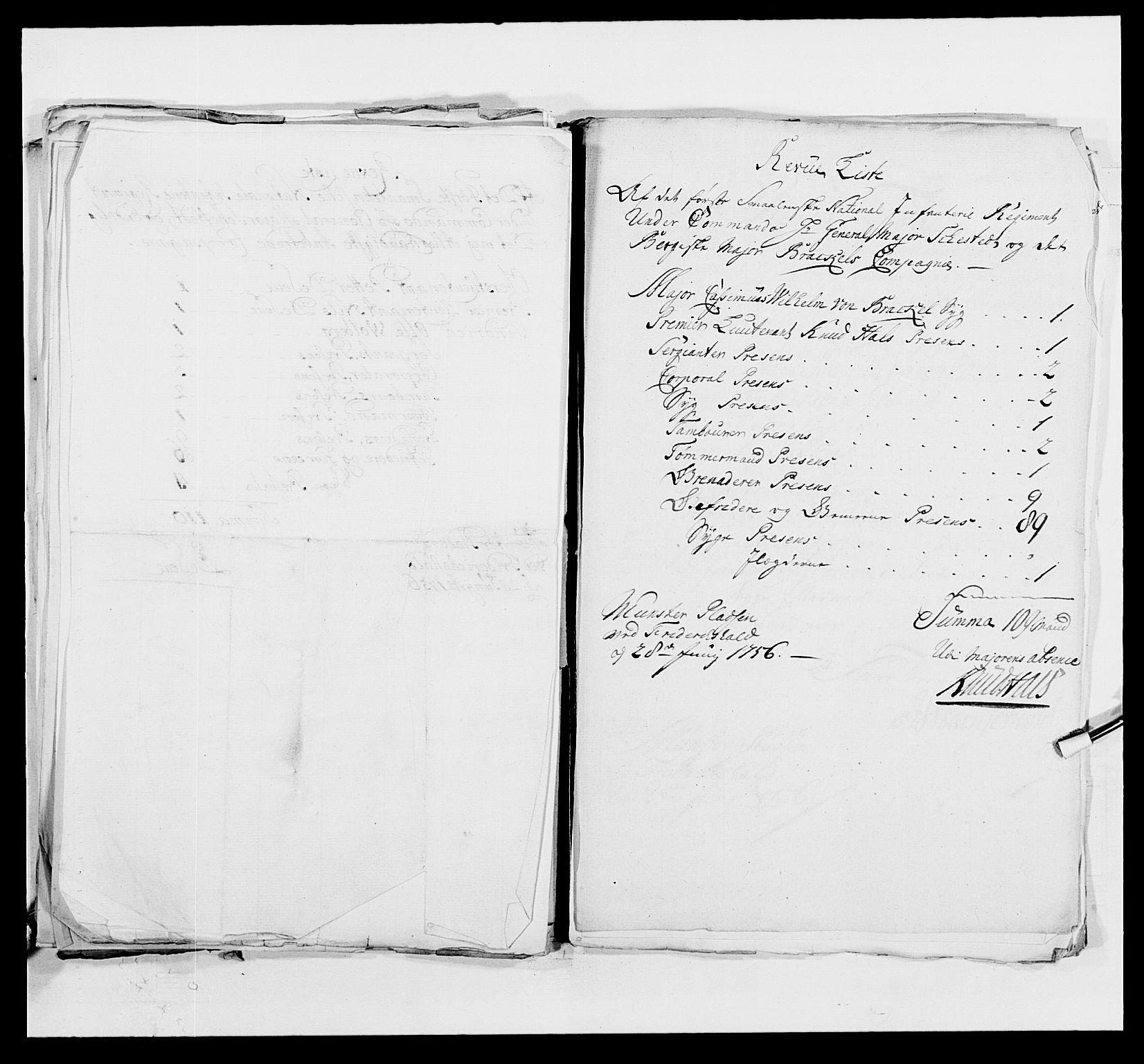 RA, Kommanderende general (KG I) med Det norske krigsdirektorium, E/Ea/L0495: 1. Smålenske regiment, 1732-1763, s. 621