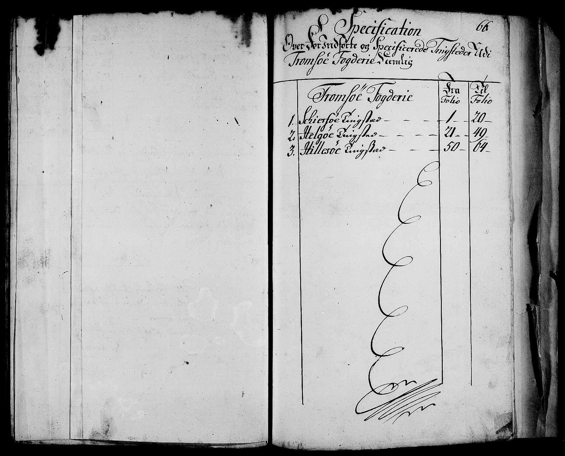 RA, Rentekammeret inntil 1814, Realistisk ordnet avdeling, N/Nb/Nbf/L0181: Troms matrikkelprotokoll, 1723, s. 65b-66a