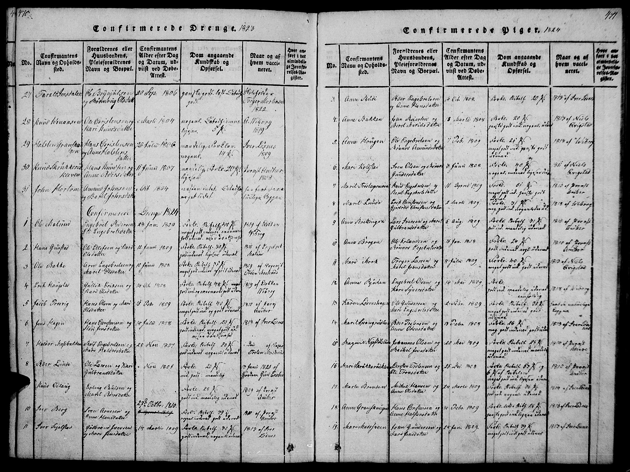 SAH, Ringebu prestekontor, Ministerialbok nr. 4, 1821-1839, s. 470-471