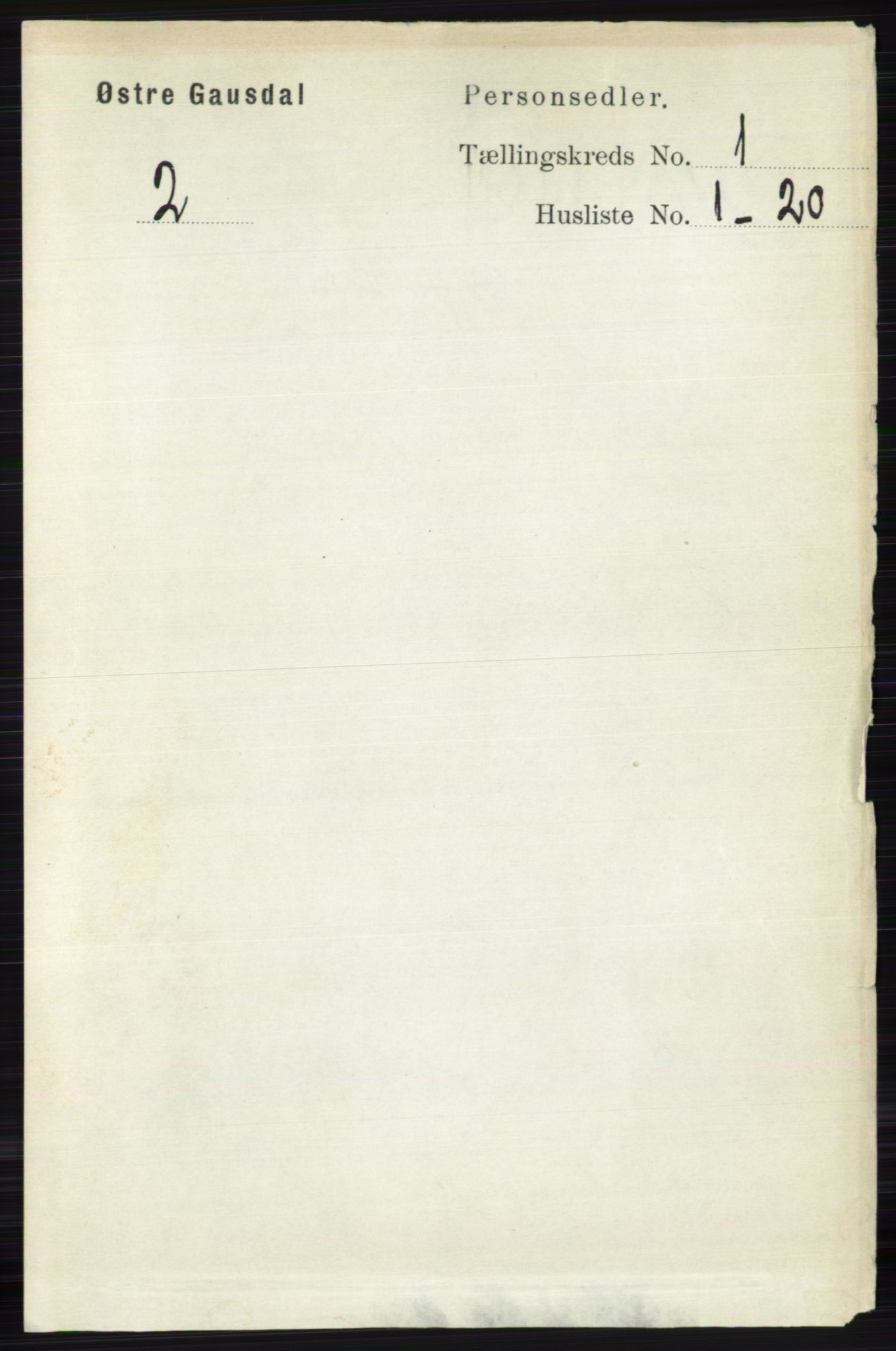 RA, Folketelling 1891 for 0522 Østre Gausdal herred, 1891, s. 158