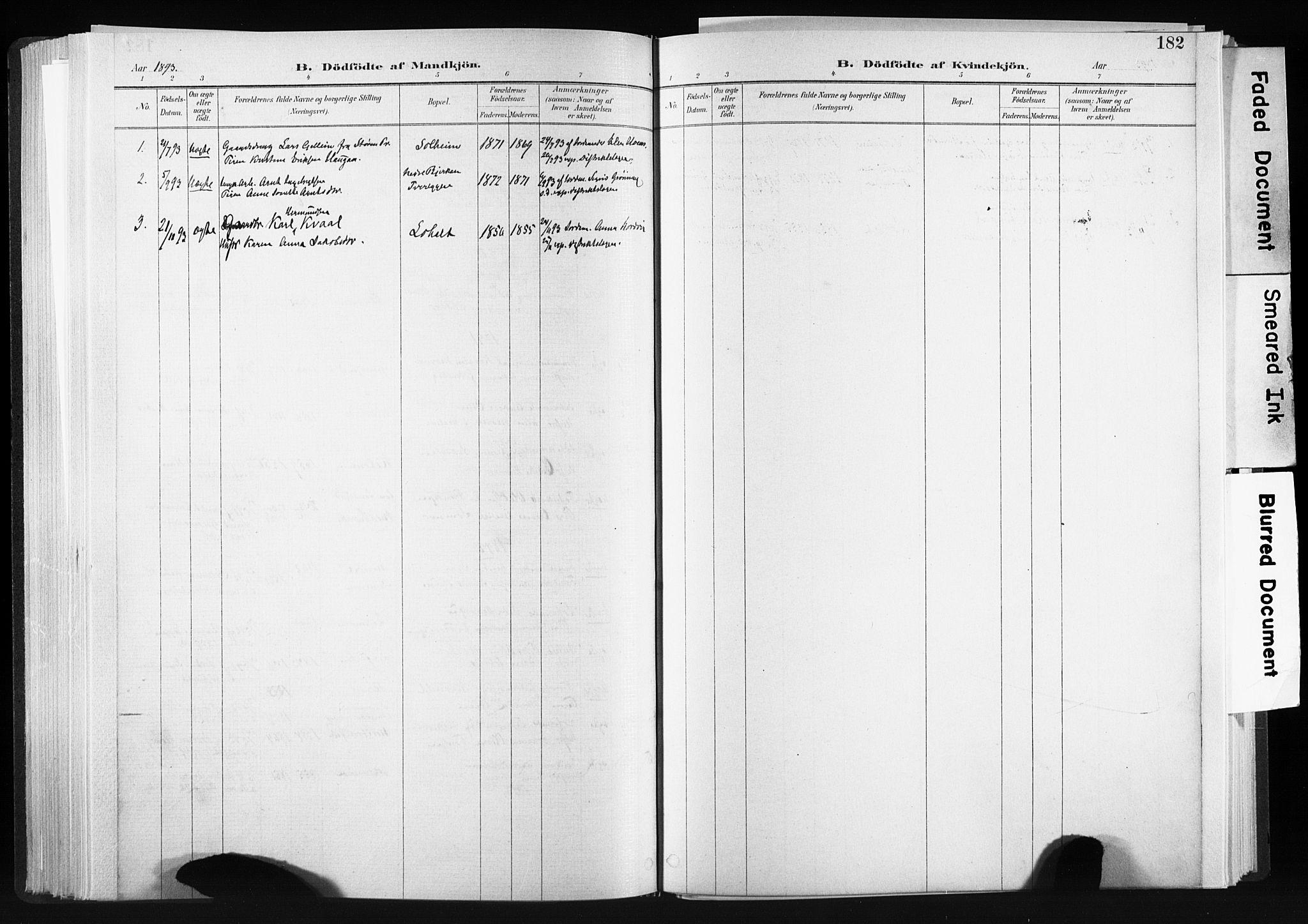SAT, Ministerialprotokoller, klokkerbøker og fødselsregistre - Sør-Trøndelag, 606/L0300: Ministerialbok nr. 606A15, 1886-1893, s. 182