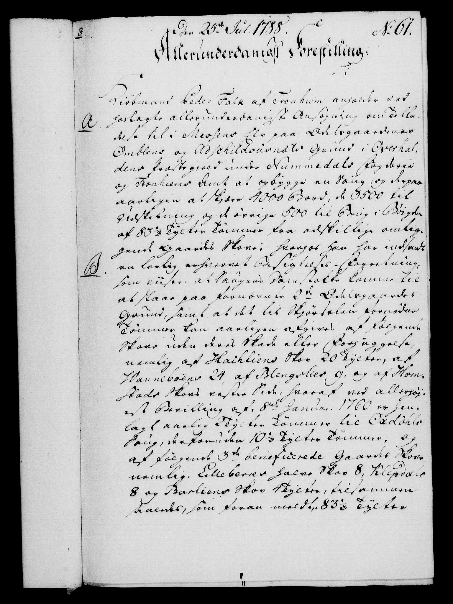 RA, Rentekammeret, Kammerkanselliet, G/Gf/Gfa/L0070: Norsk relasjons- og resolusjonsprotokoll (merket RK 52.70), 1788, s. 395