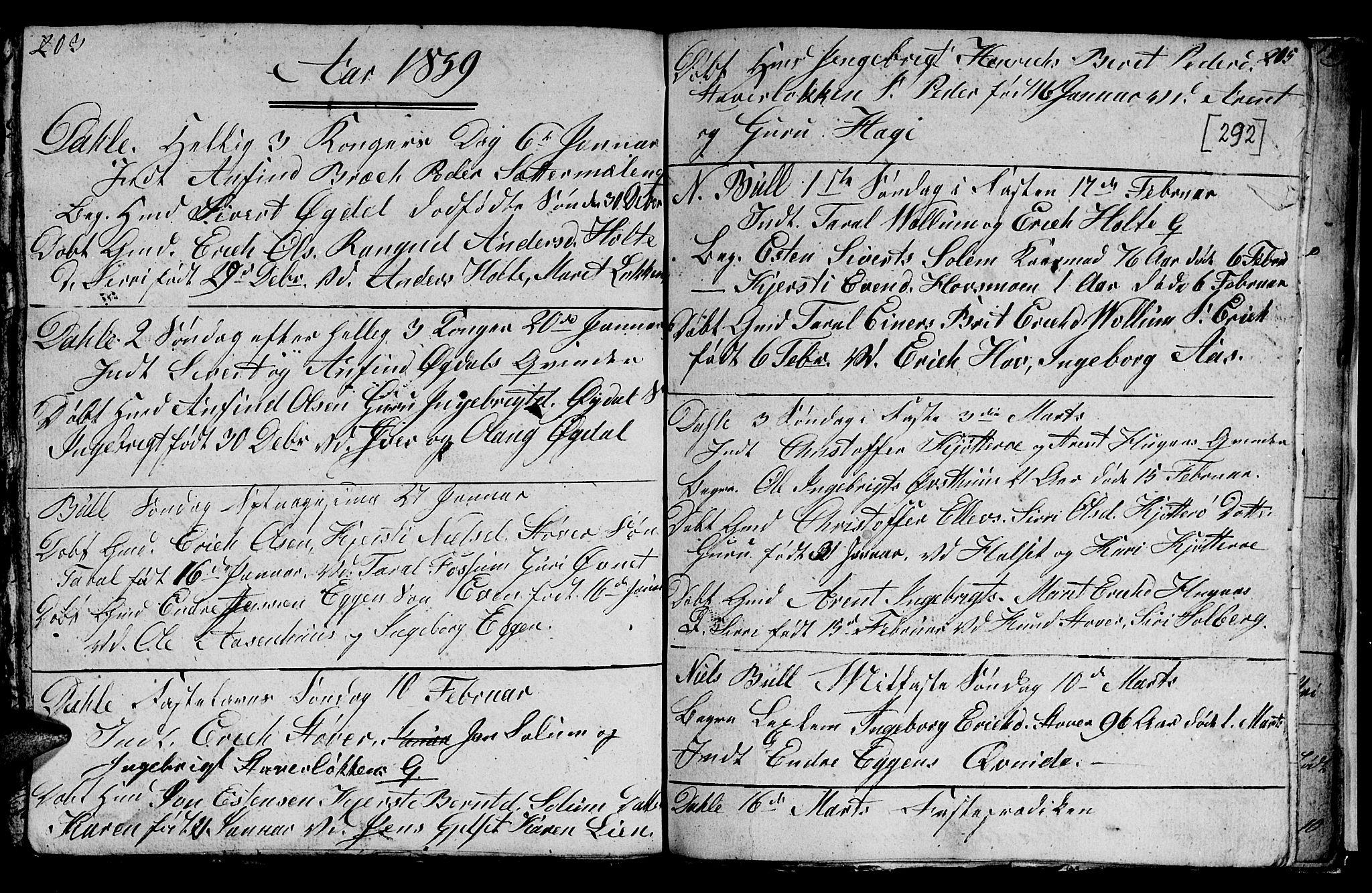 SAT, Ministerialprotokoller, klokkerbøker og fødselsregistre - Sør-Trøndelag, 689/L1042: Klokkerbok nr. 689C01, 1812-1841, s. 291-292