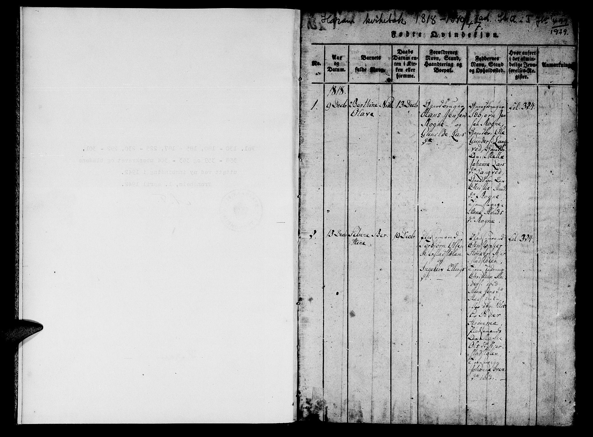 SAT, Ministerialprotokoller, klokkerbøker og fødselsregistre - Møre og Romsdal, 536/L0495: Ministerialbok nr. 536A04, 1818-1847, s. 1