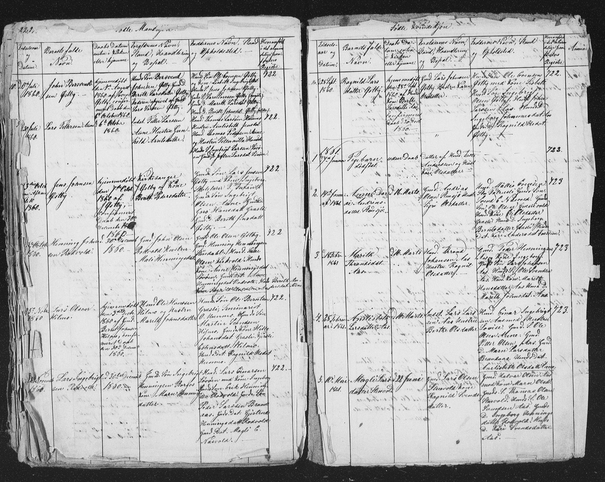 SAT, Ministerialprotokoller, klokkerbøker og fødselsregistre - Sør-Trøndelag, 698/L1165: Klokkerbok nr. 698C02, 1851-1861, s. 224-225