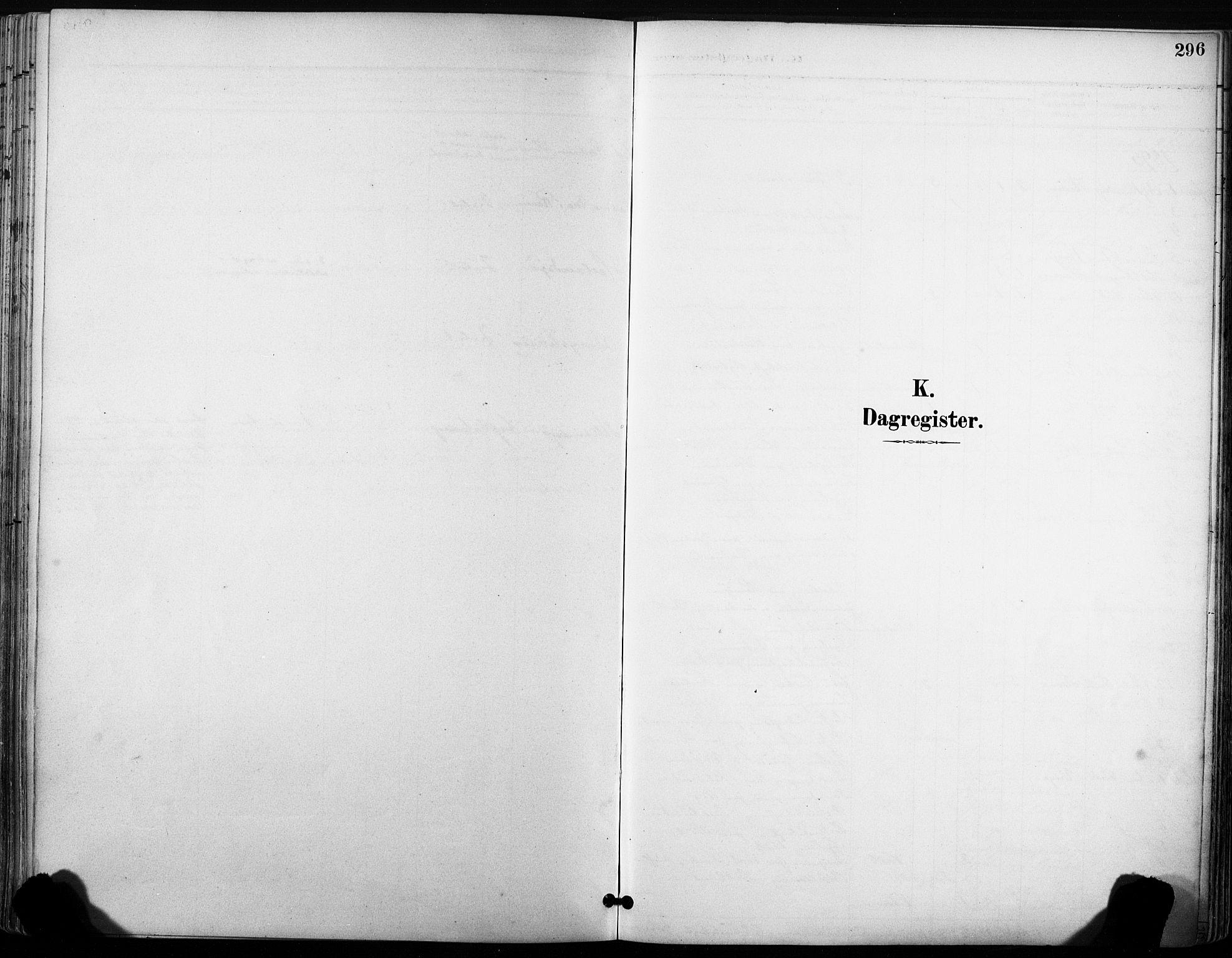 SAT, Ministerialprotokoller, klokkerbøker og fødselsregistre - Sør-Trøndelag, 630/L0497: Ministerialbok nr. 630A10, 1896-1910, s. 296