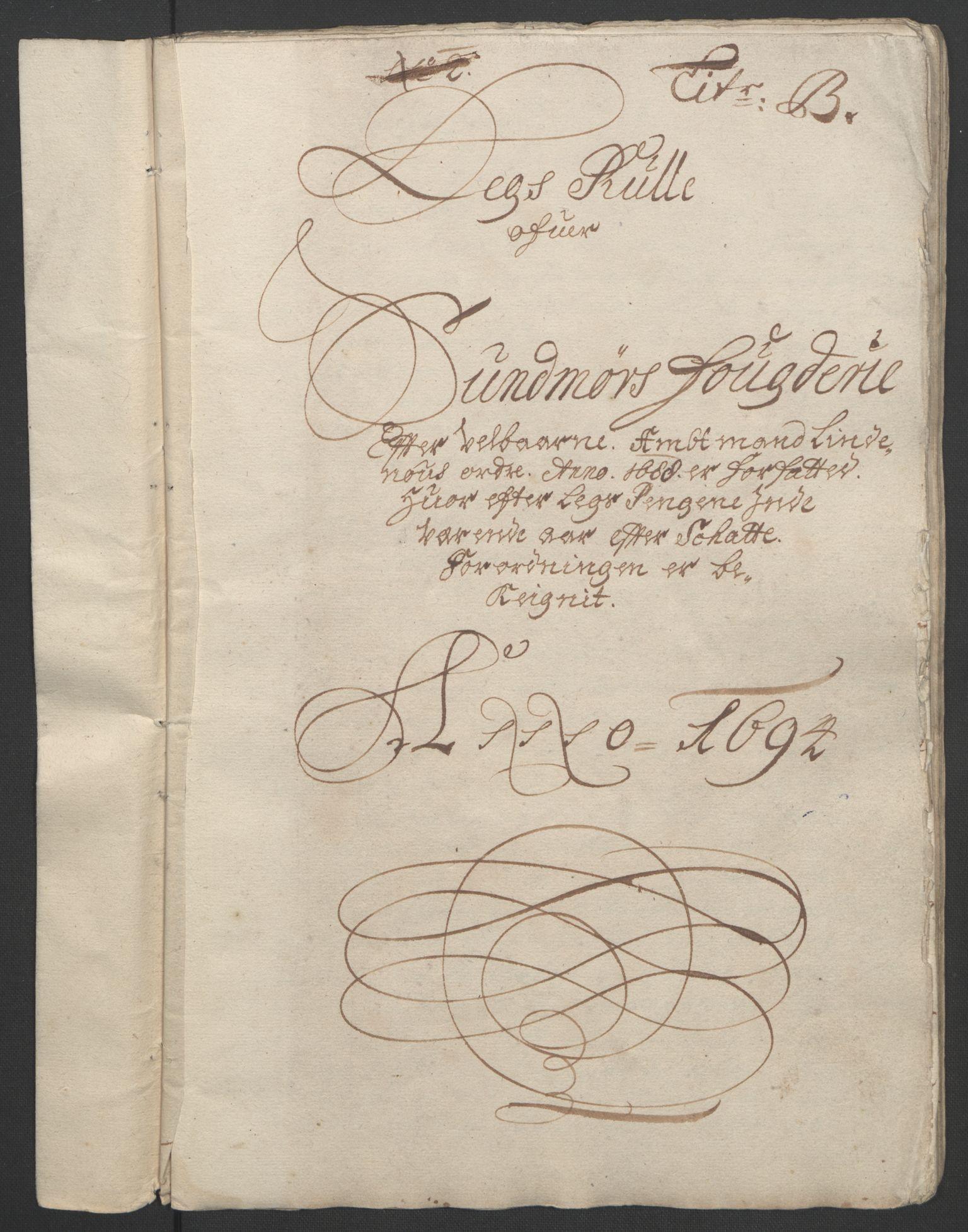 RA, Rentekammeret inntil 1814, Reviderte regnskaper, Fogderegnskap, R54/L3555: Fogderegnskap Sunnmøre, 1694-1695, s. 38