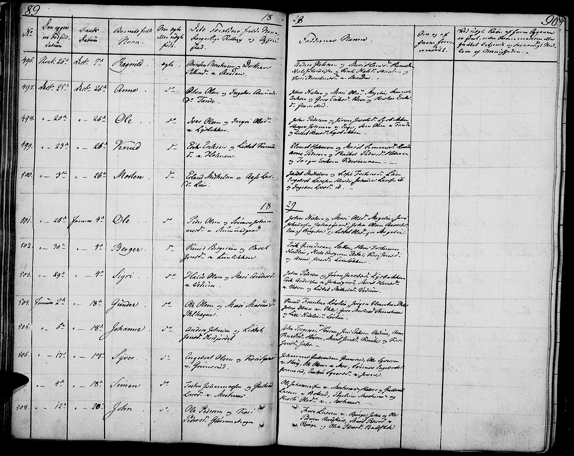 SAH, Øyer prestekontor, Ministerialbok nr. 4, 1824-1841, s. 89-90
