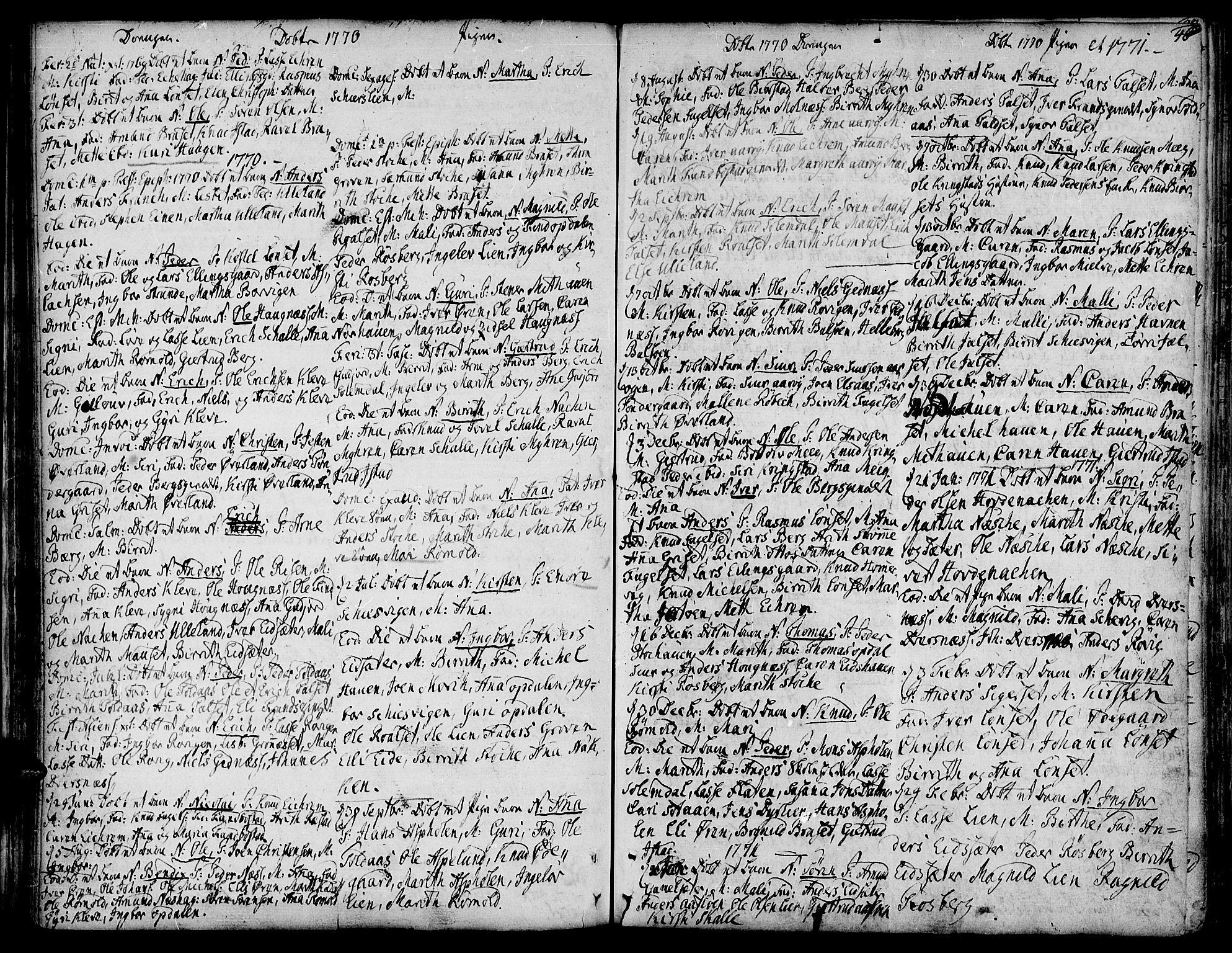 SAT, Ministerialprotokoller, klokkerbøker og fødselsregistre - Møre og Romsdal, 555/L0648: Ministerialbok nr. 555A01, 1759-1793, s. 46
