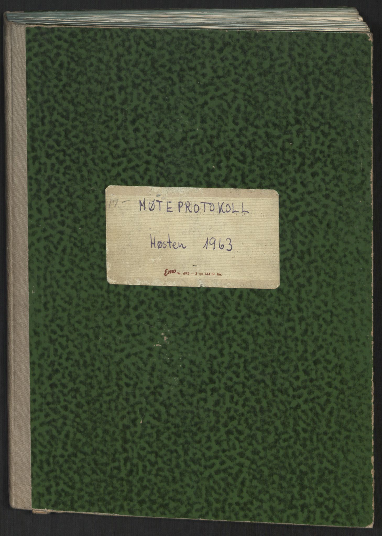 RA, Det Norske Studentersamfund, A/Ac/L0021: Møteprotokoller, 1963